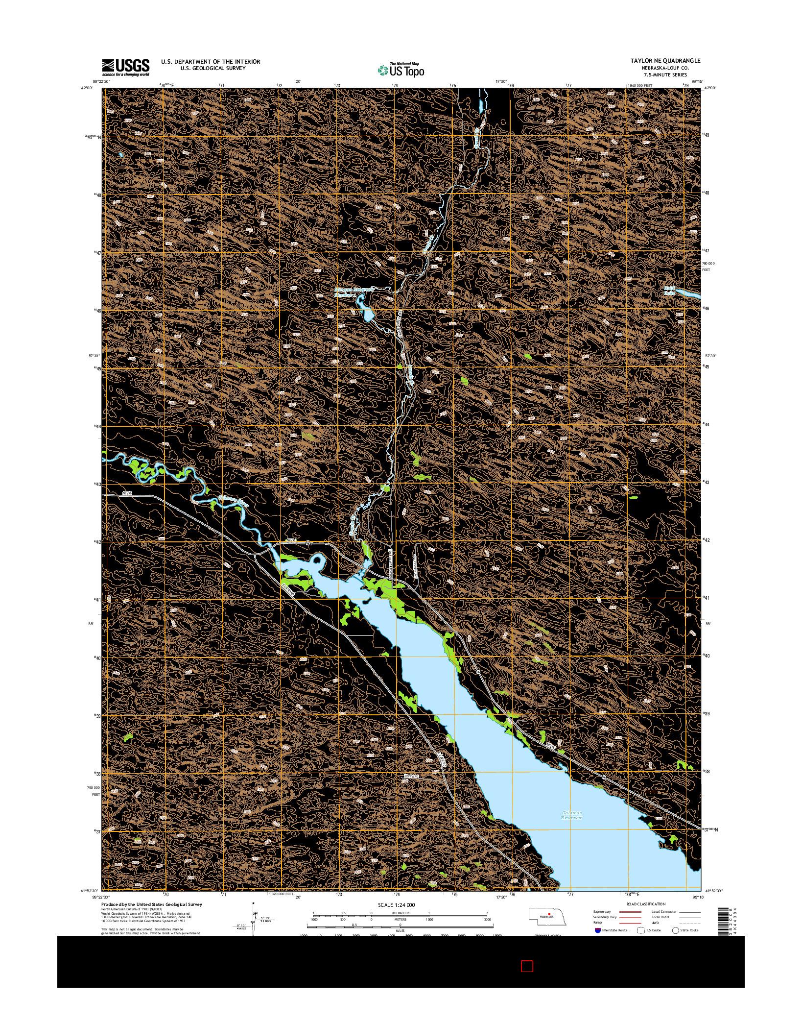 USGS US TOPO 7.5-MINUTE MAP FOR TAYLOR NE, NE 2014