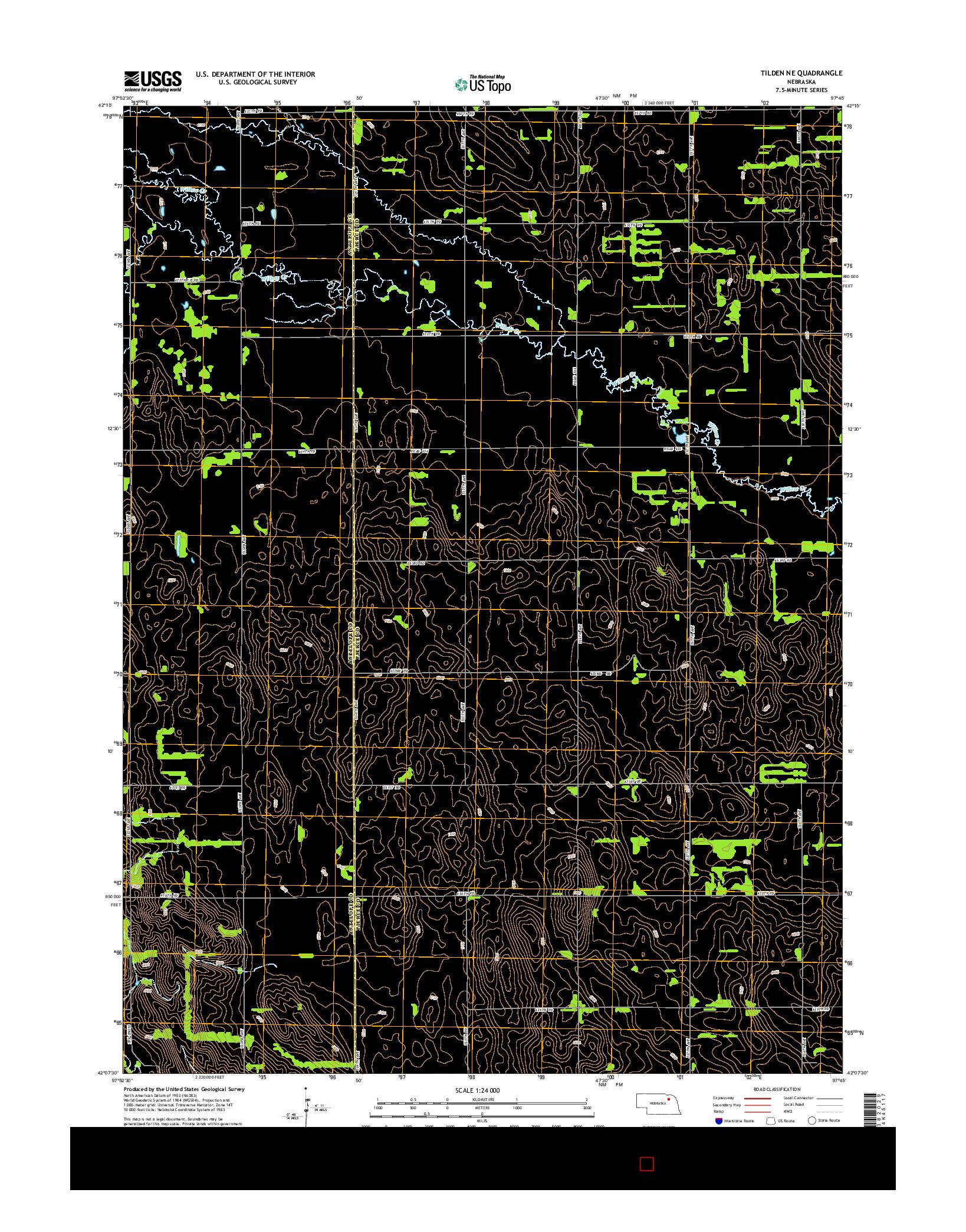 USGS US TOPO 7.5-MINUTE MAP FOR TILDEN NE, NE 2014