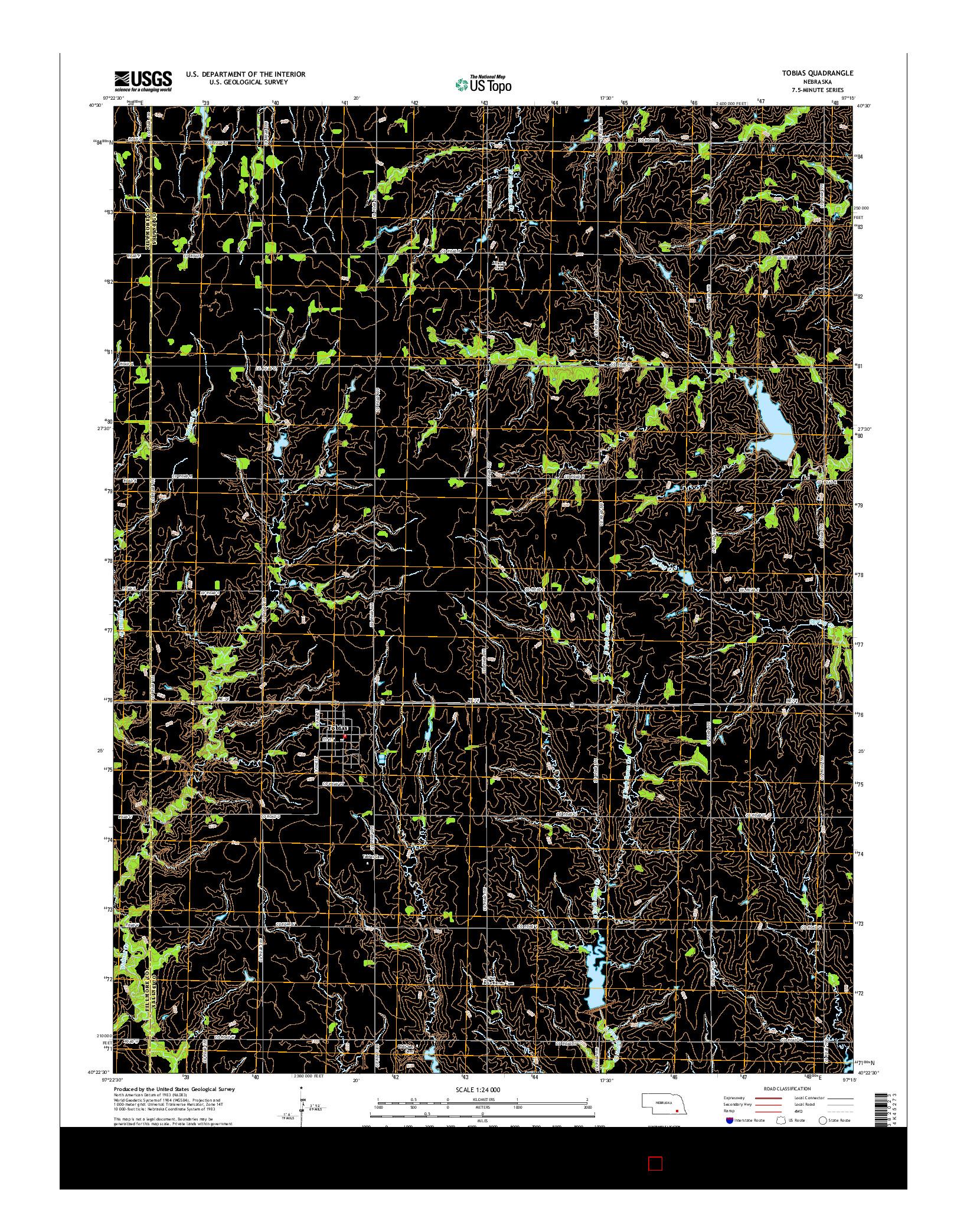 USGS US TOPO 7.5-MINUTE MAP FOR TOBIAS, NE 2014