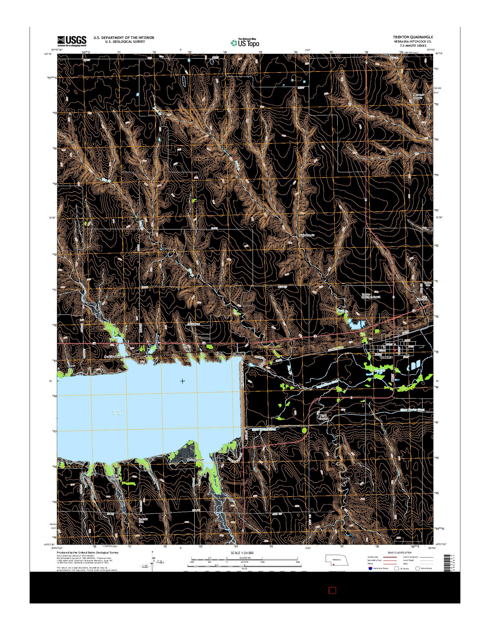 USGS US TOPO 7.5-MINUTE MAP FOR TRENTON, NE 2014