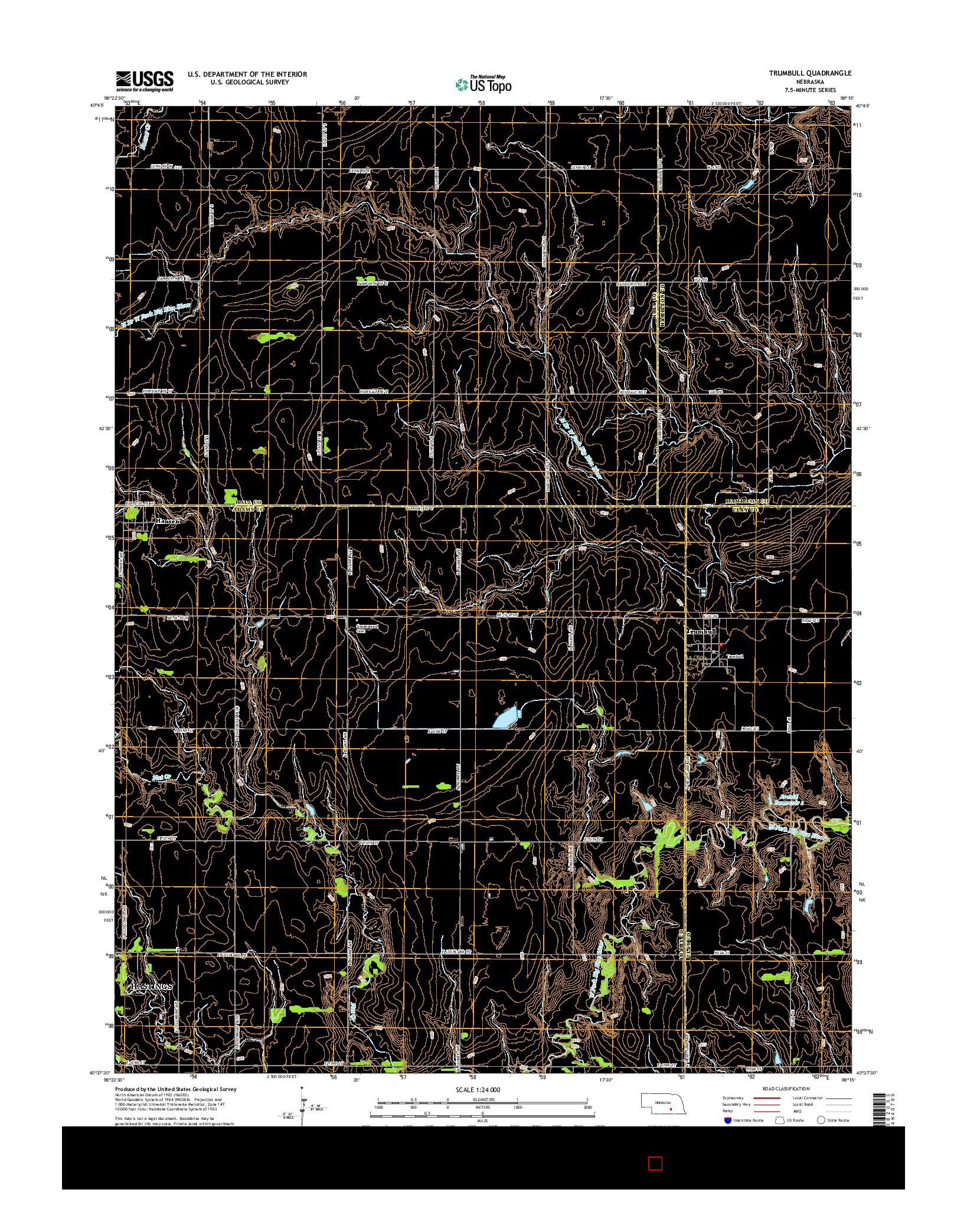USGS US TOPO 7.5-MINUTE MAP FOR TRUMBULL, NE 2014