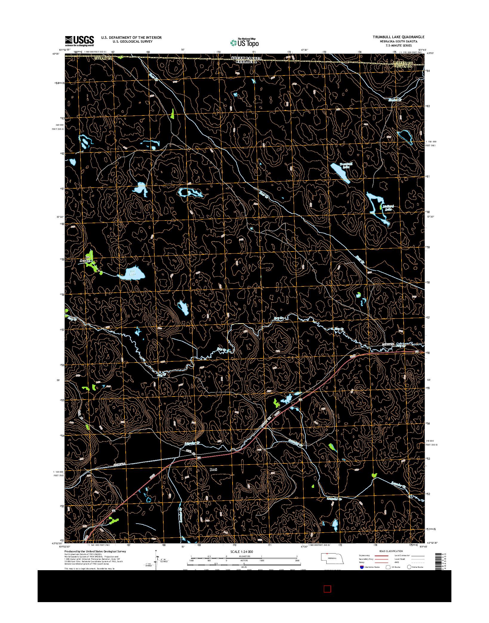 USGS US TOPO 7.5-MINUTE MAP FOR TRUMBULL LAKE, NE-SD 2014