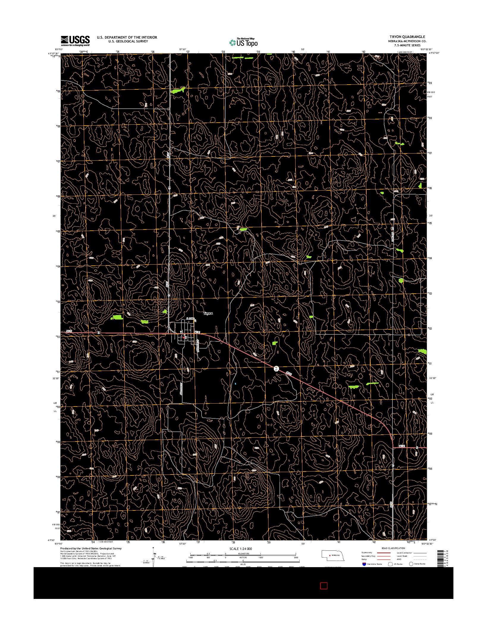 USGS US TOPO 7.5-MINUTE MAP FOR TRYON, NE 2014