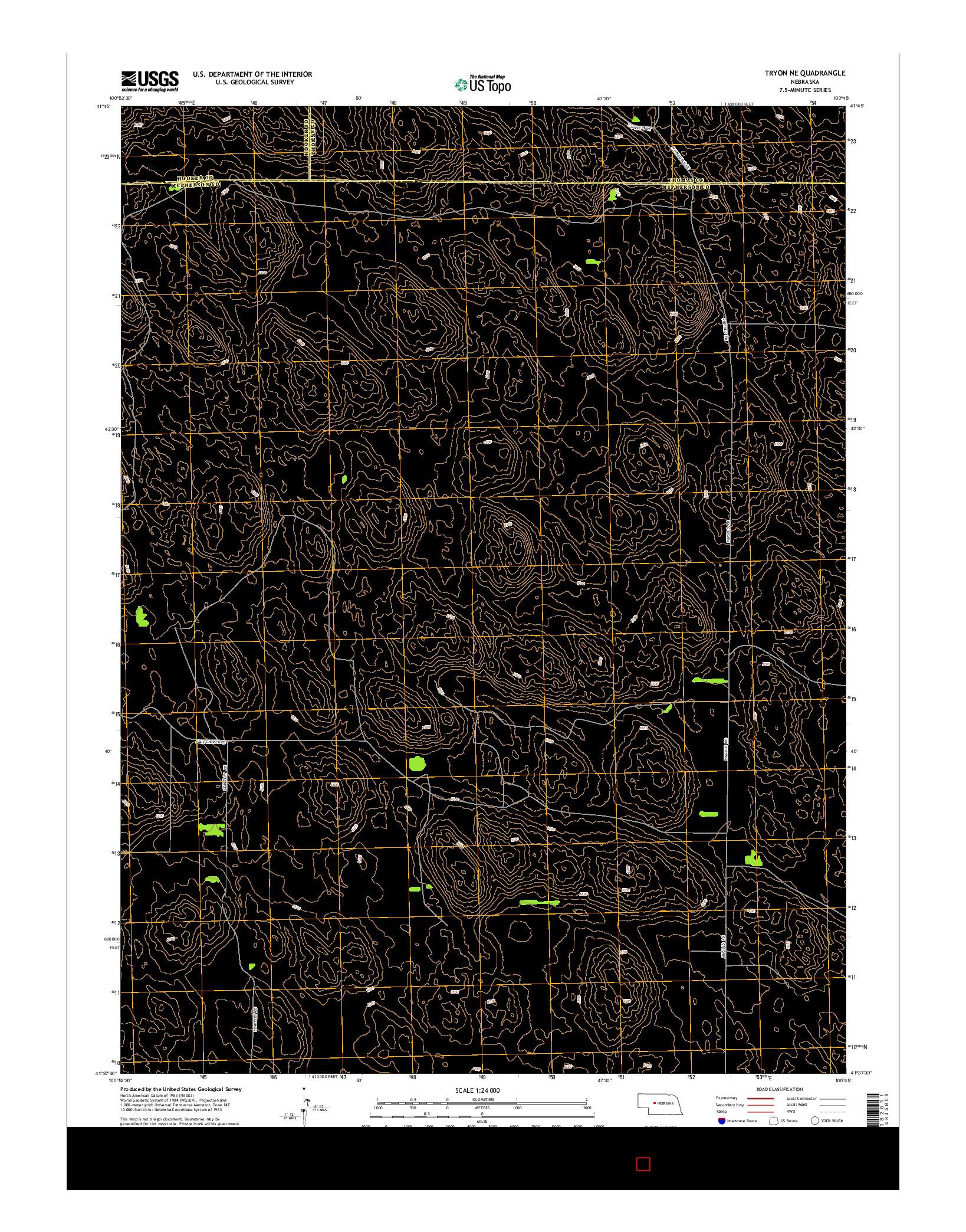 USGS US TOPO 7.5-MINUTE MAP FOR TRYON NE, NE 2014