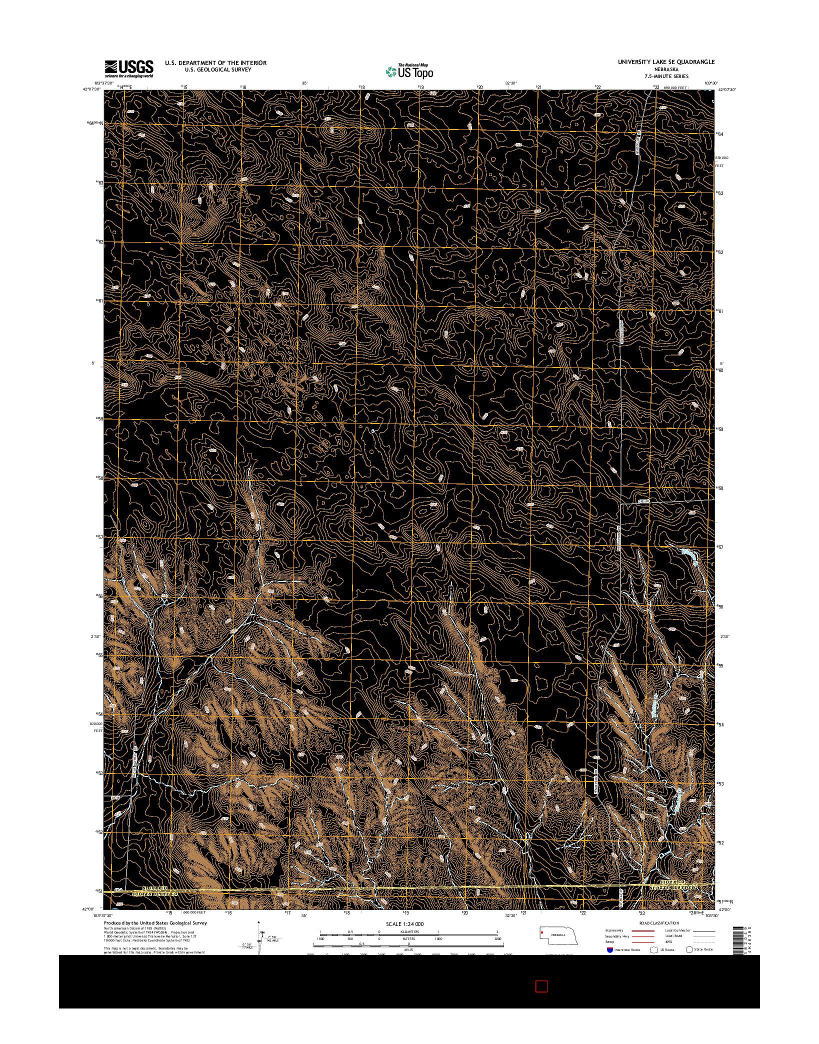 USGS US TOPO 7.5-MINUTE MAP FOR UNIVERSITY LAKE SE, NE 2014