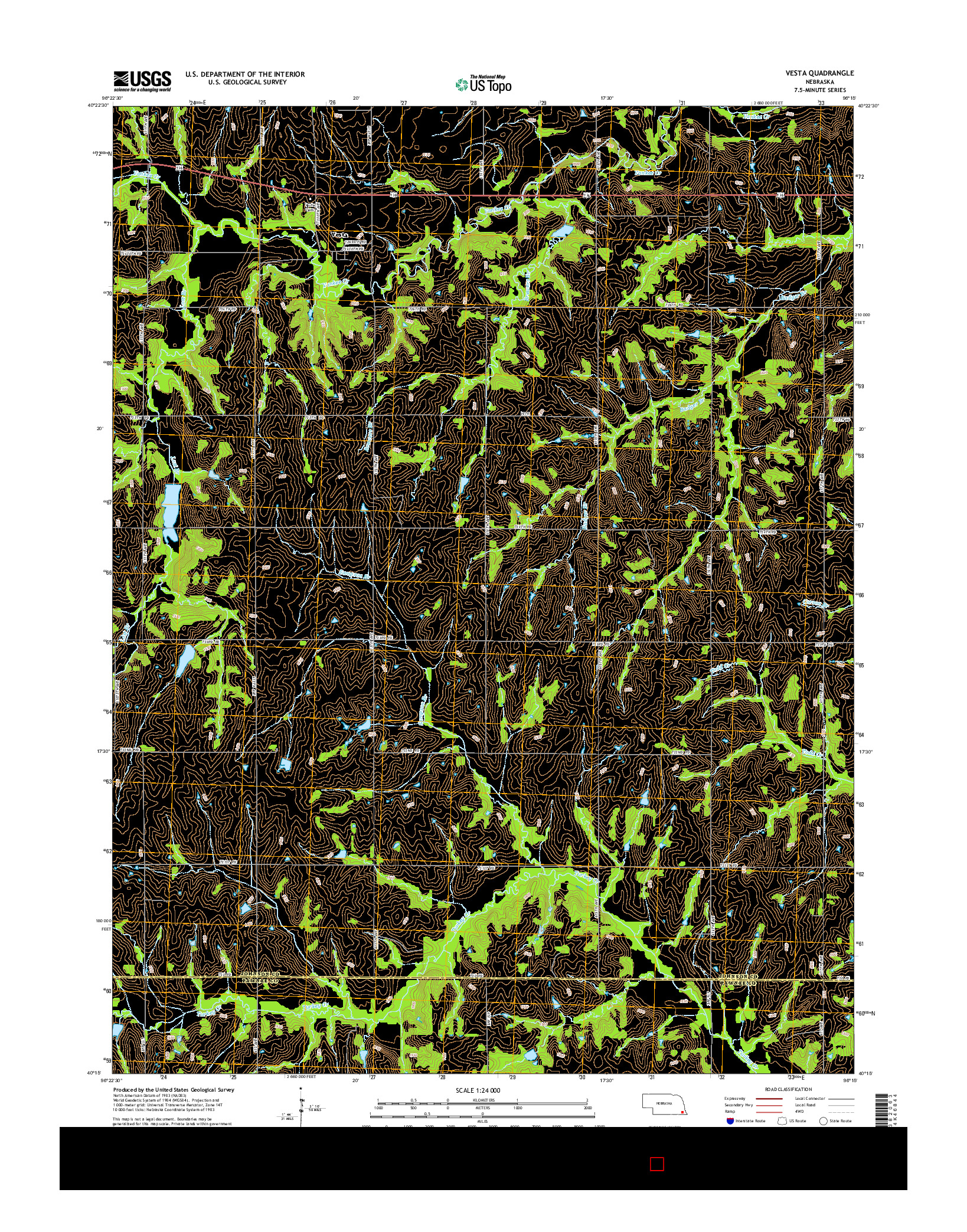 USGS US TOPO 7.5-MINUTE MAP FOR VESTA, NE 2014