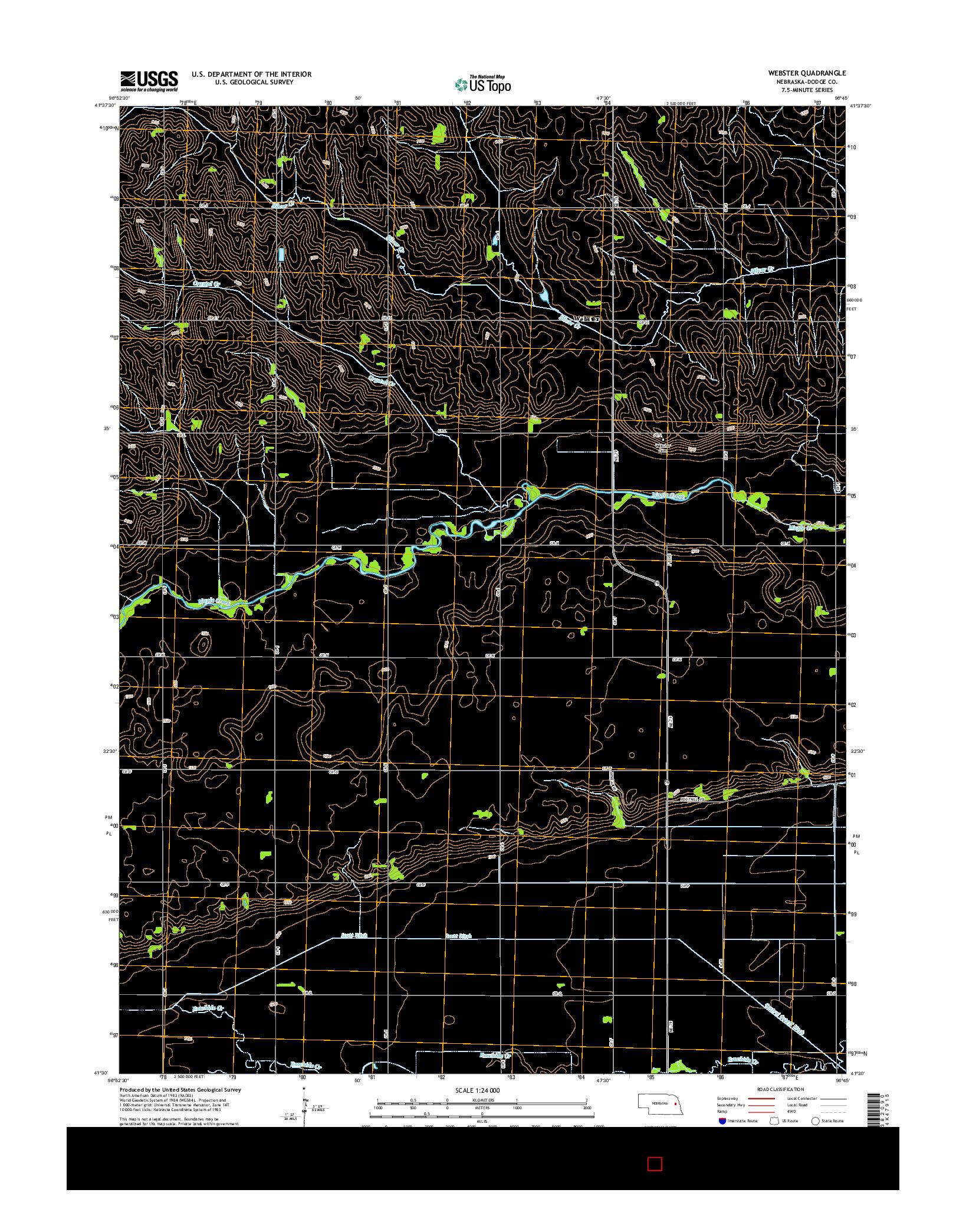 USGS US TOPO 7.5-MINUTE MAP FOR WEBSTER, NE 2014
