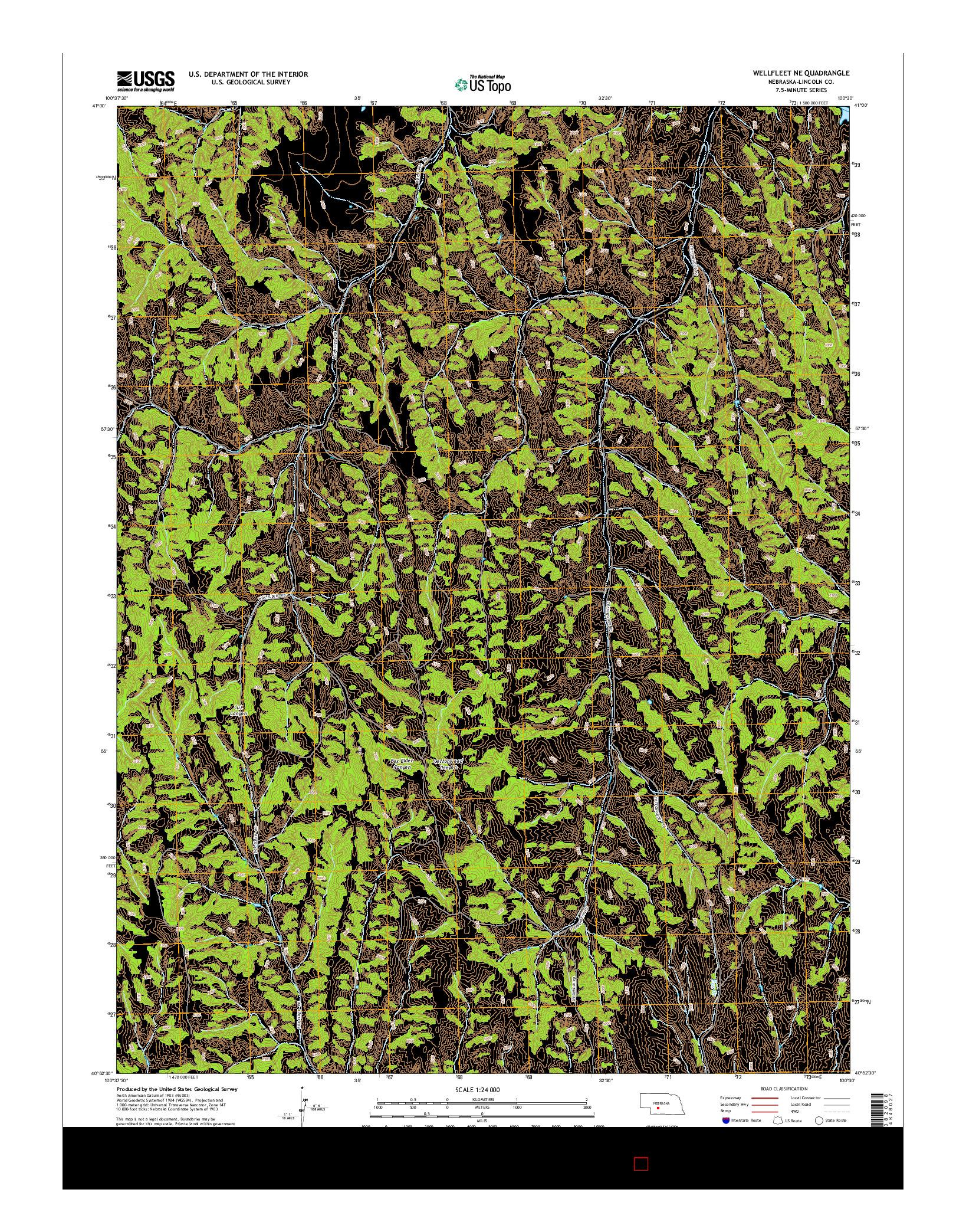 USGS US TOPO 7.5-MINUTE MAP FOR WELLFLEET NE, NE 2014
