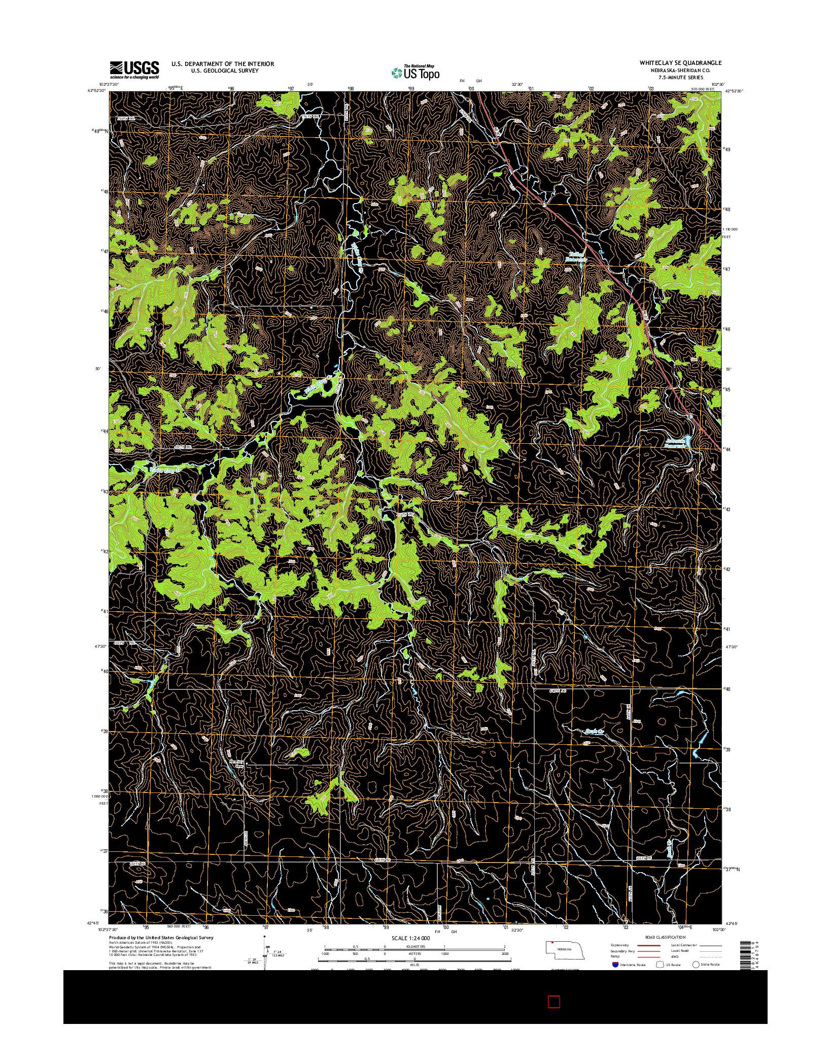 USGS US TOPO 7.5-MINUTE MAP FOR WHITECLAY SE, NE 2014