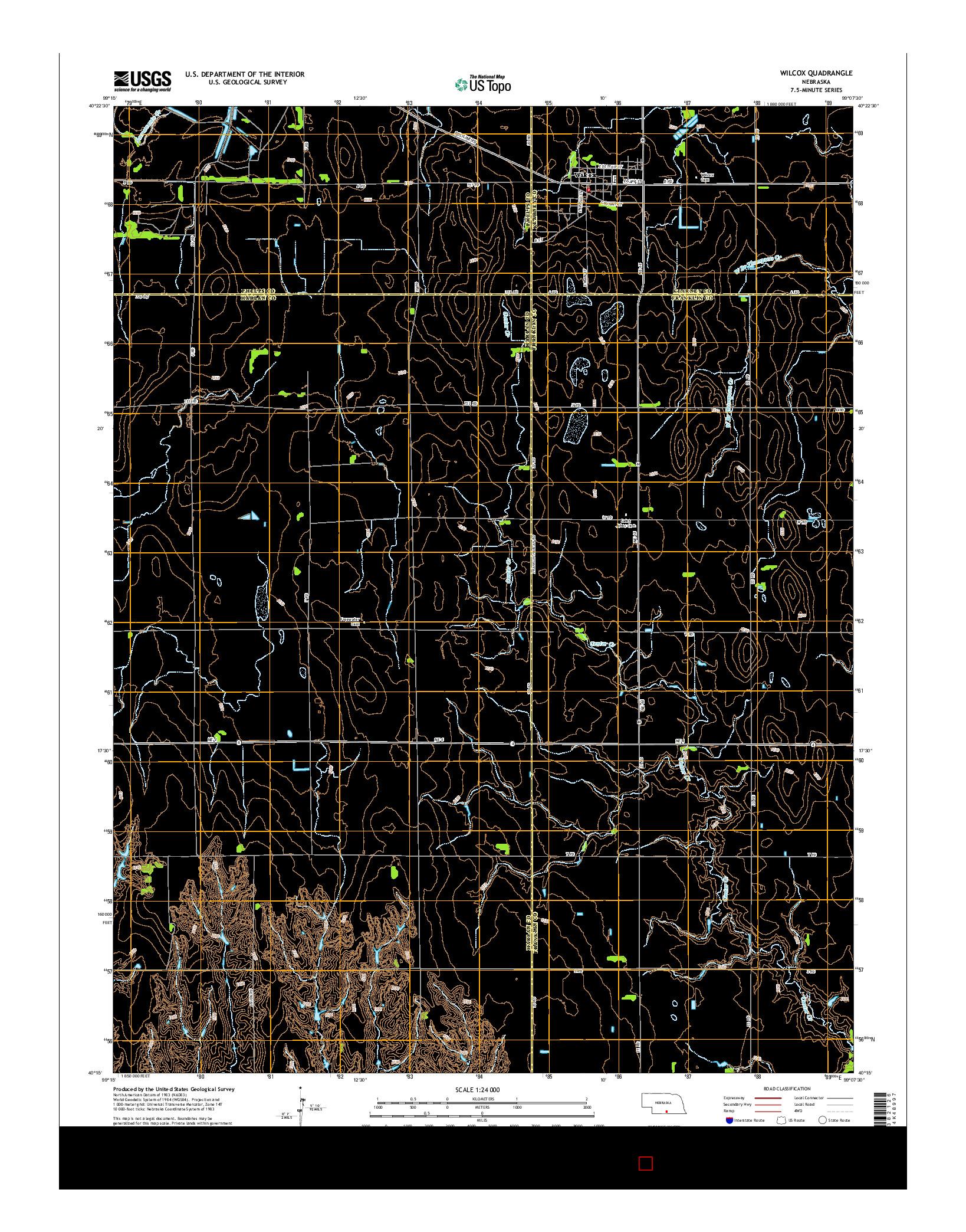 USGS US TOPO 7.5-MINUTE MAP FOR WILCOX, NE 2014