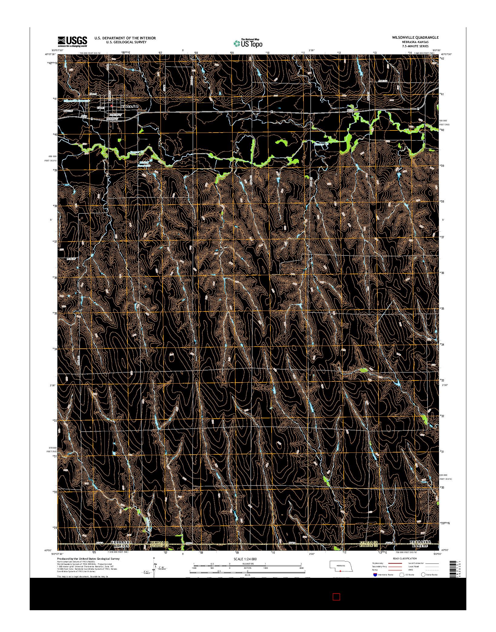 USGS US TOPO 7.5-MINUTE MAP FOR WILSONVILLE, NE-KS 2014