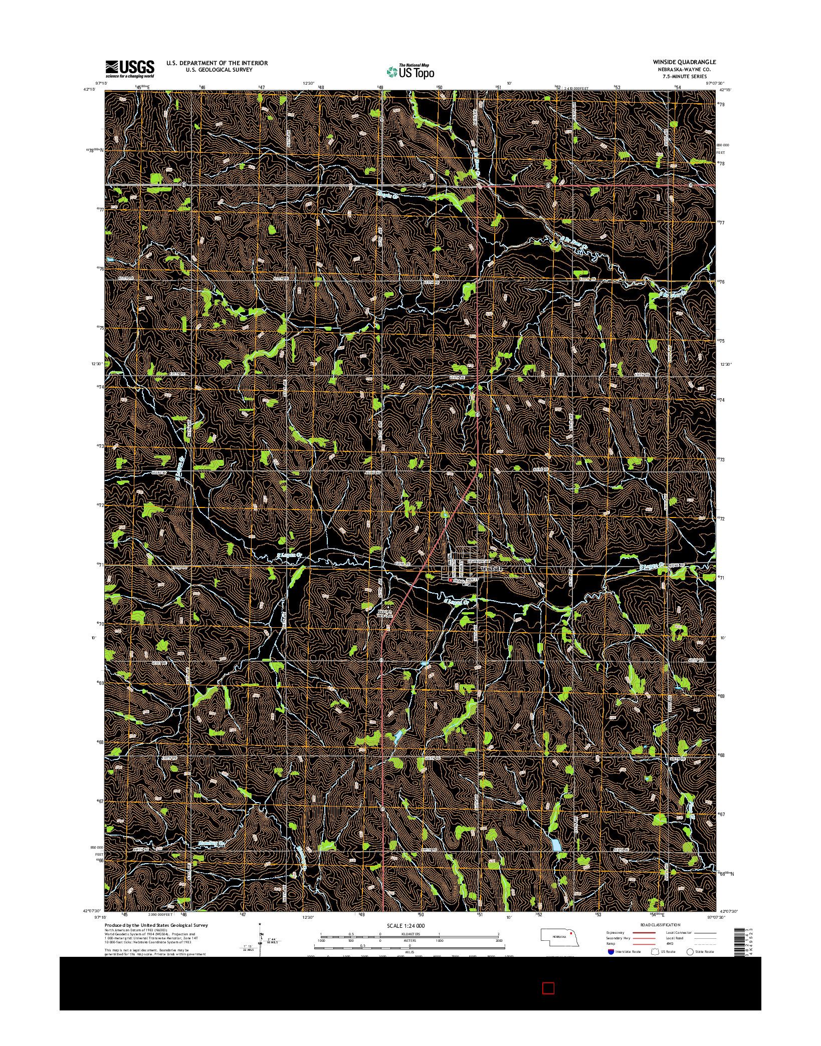 USGS US TOPO 7.5-MINUTE MAP FOR WINSIDE, NE 2014