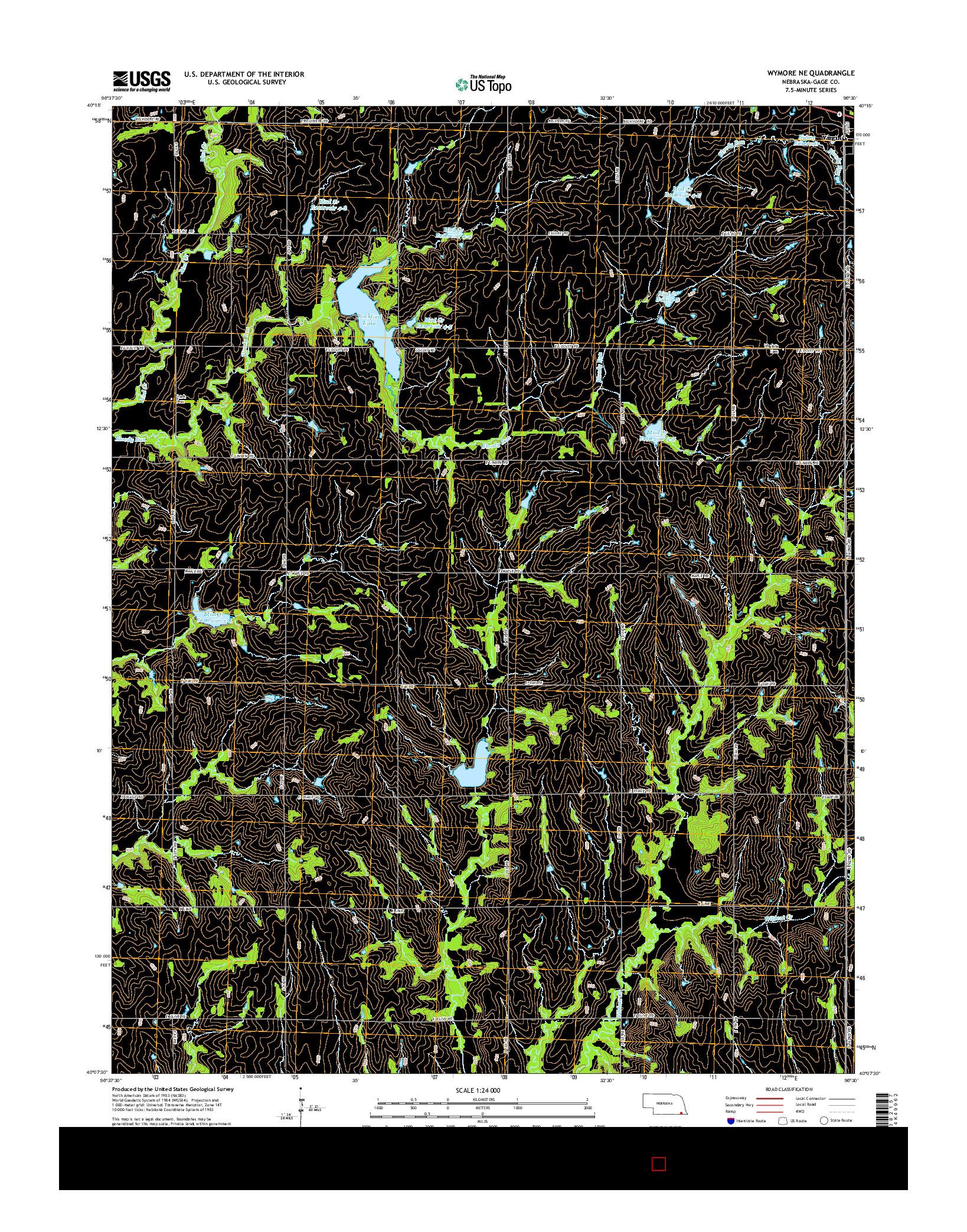 USGS US TOPO 7.5-MINUTE MAP FOR WYMORE NE, NE 2014