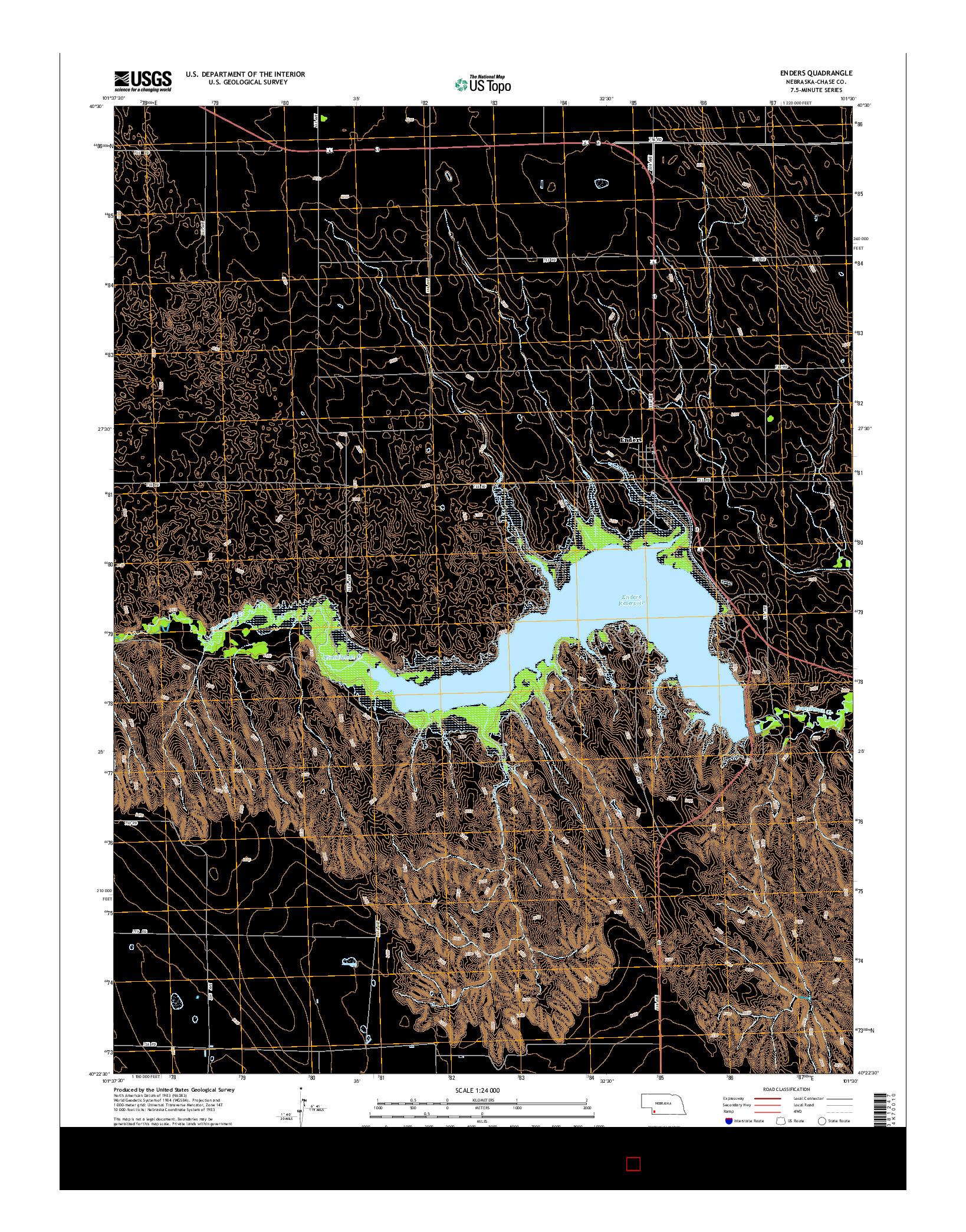 USGS US TOPO 7.5-MINUTE MAP FOR ENDERS, NE 2014