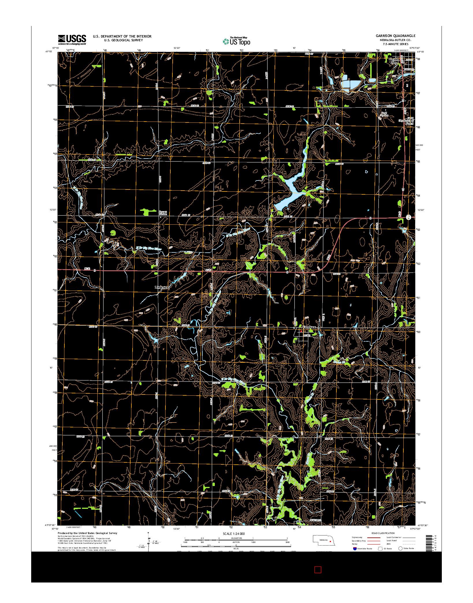 USGS US TOPO 7.5-MINUTE MAP FOR GARRISON, NE 2014