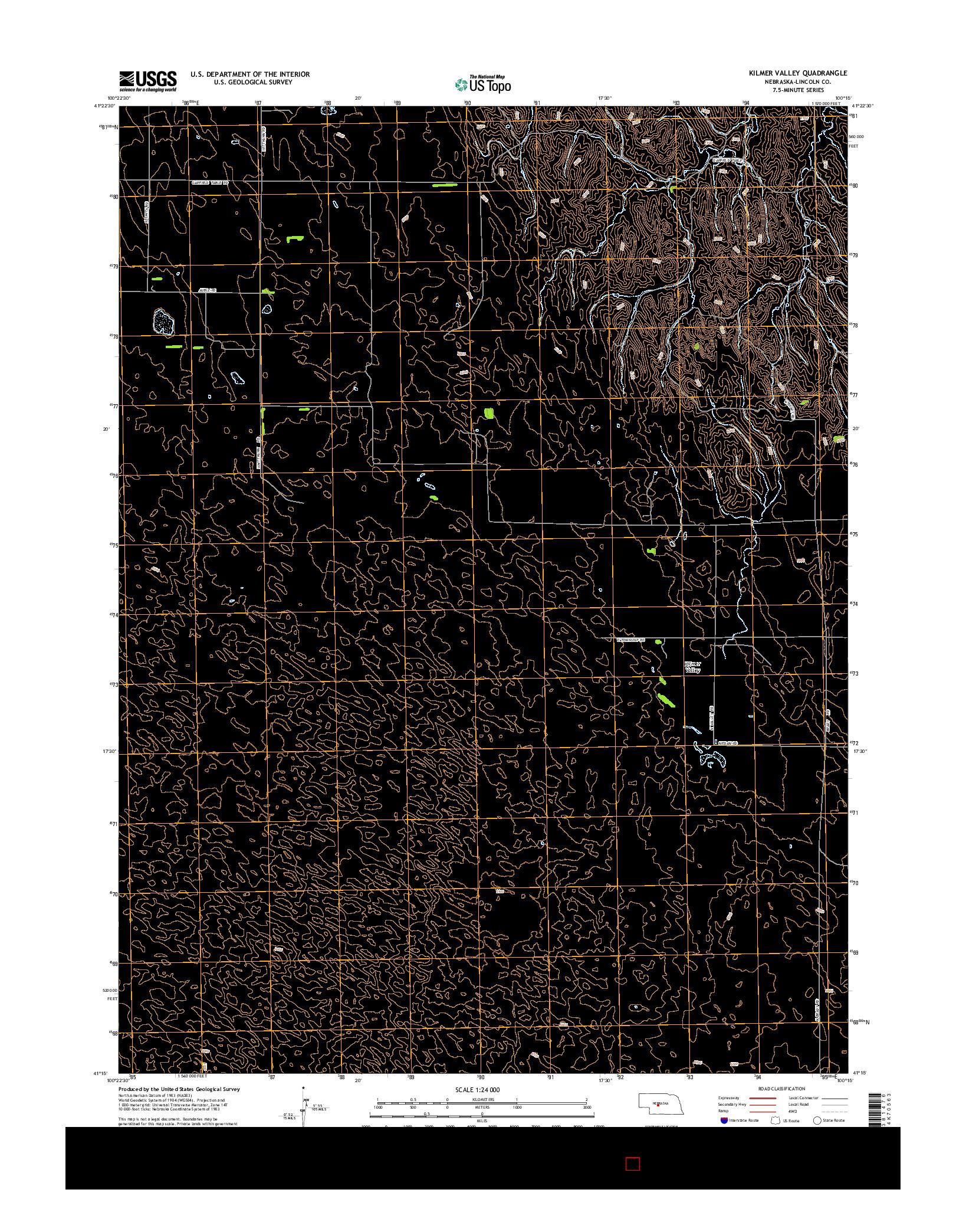 USGS US TOPO 7.5-MINUTE MAP FOR KILMER VALLEY, NE 2014