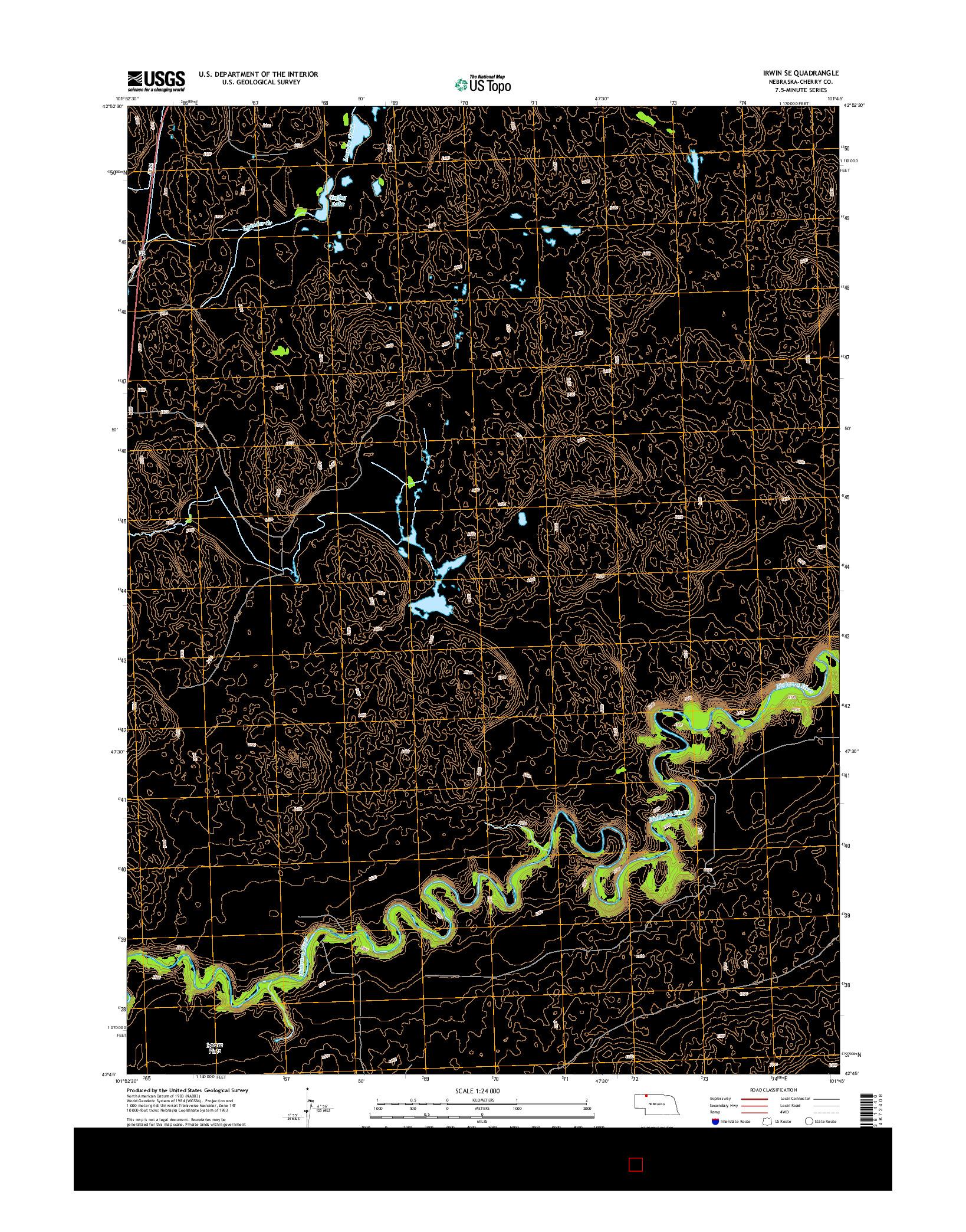 USGS US TOPO 7.5-MINUTE MAP FOR IRWIN SE, NE 2014