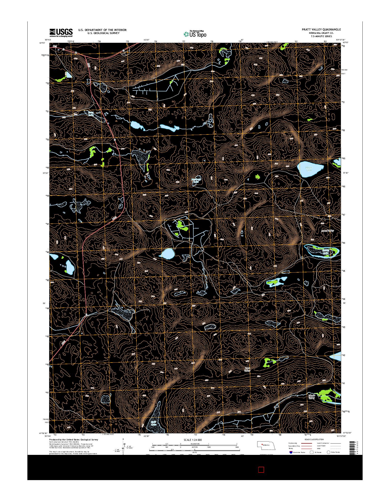 USGS US TOPO 7.5-MINUTE MAP FOR PRATT VALLEY, NE 2014