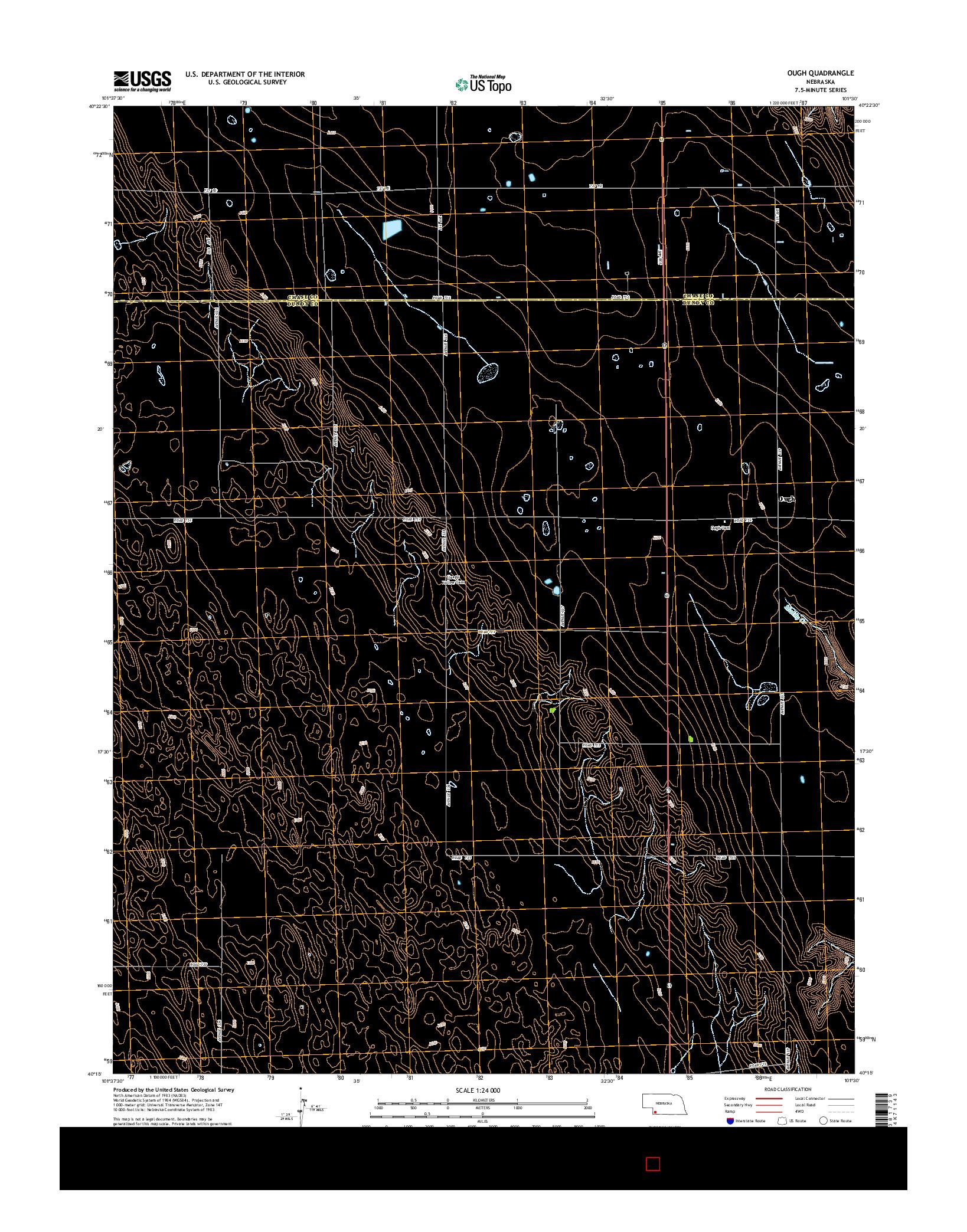 USGS US TOPO 7.5-MINUTE MAP FOR OUGH, NE 2014