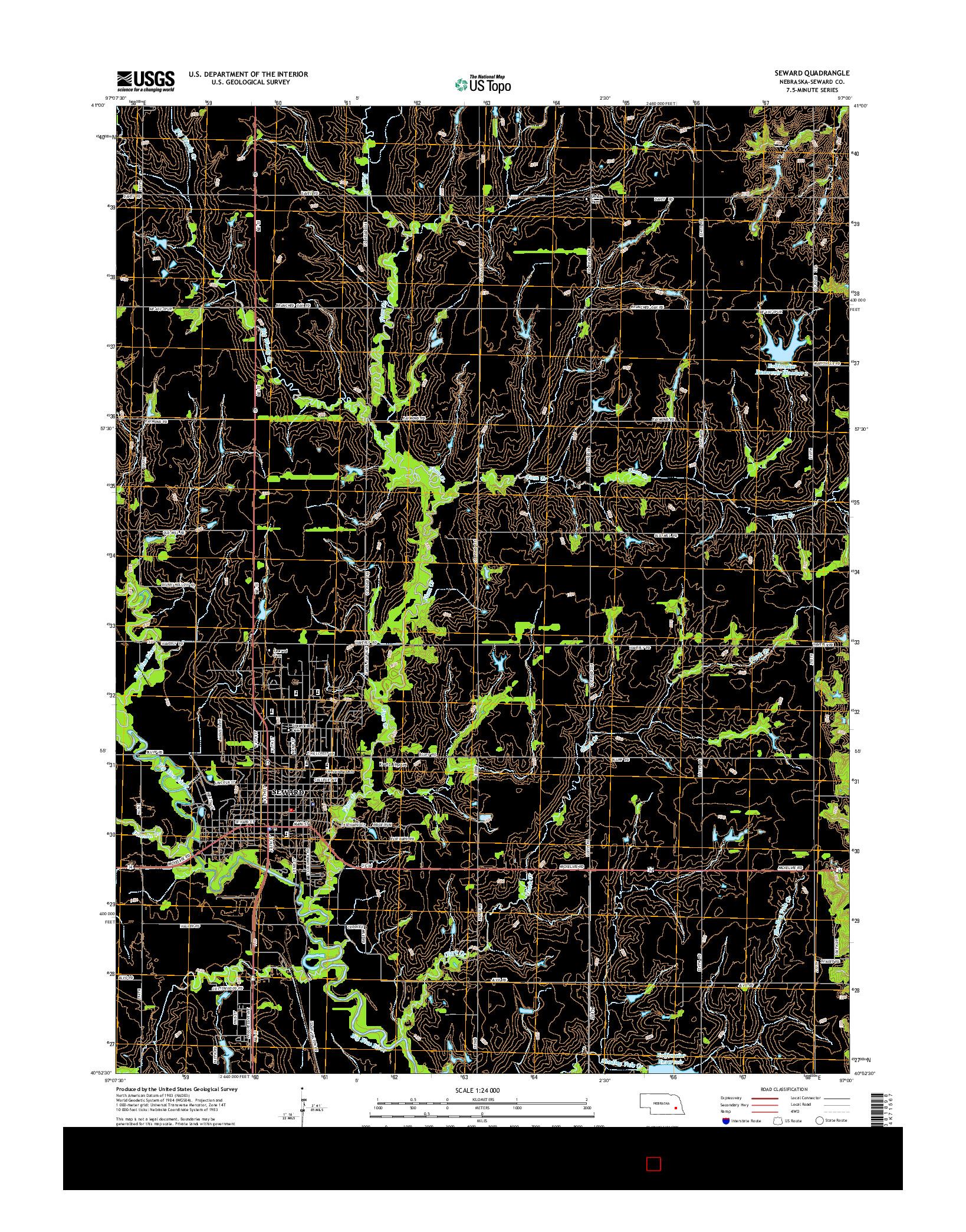 USGS US TOPO 7.5-MINUTE MAP FOR SEWARD, NE 2014