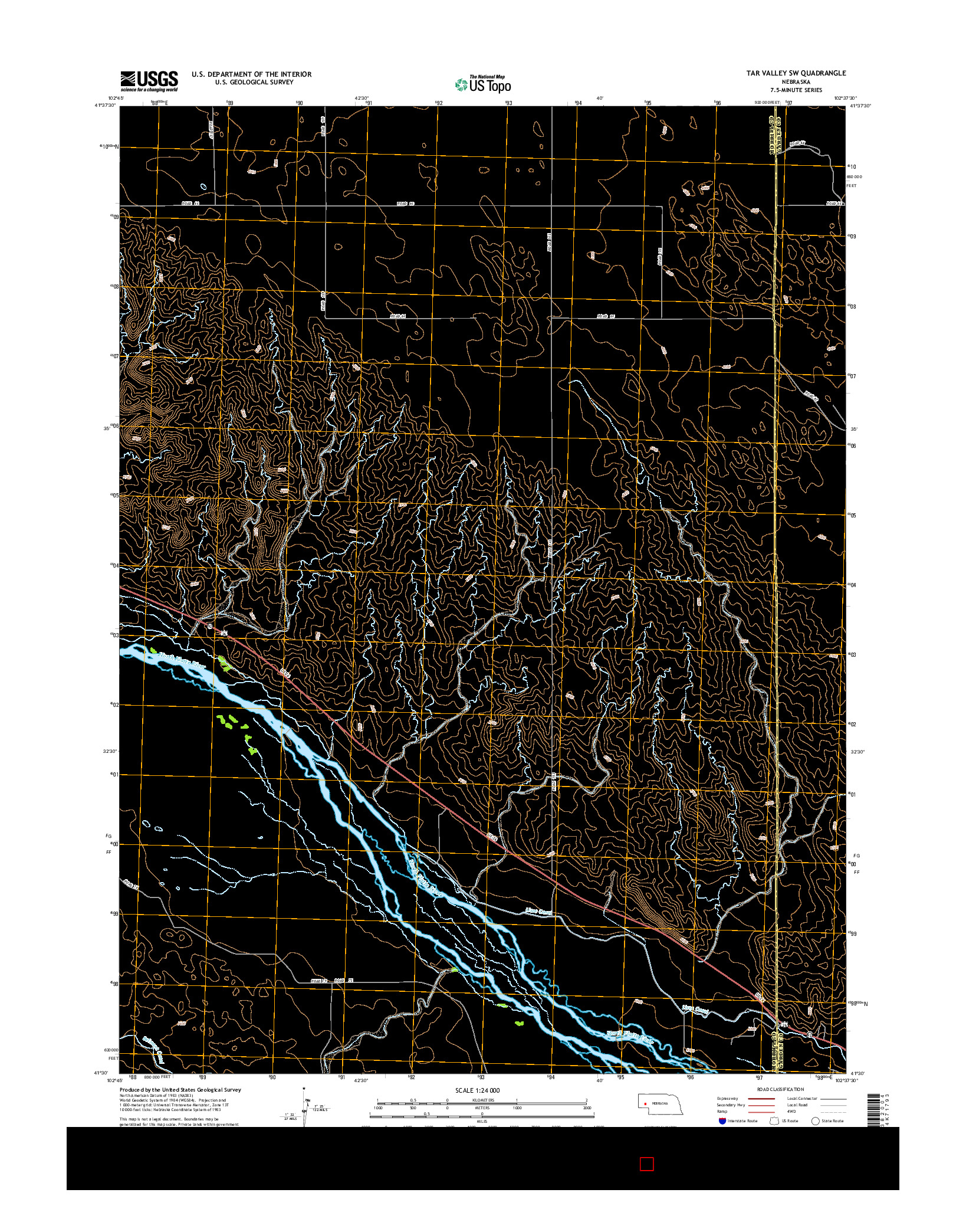 USGS US TOPO 7.5-MINUTE MAP FOR TAR VALLEY SW, NE 2014