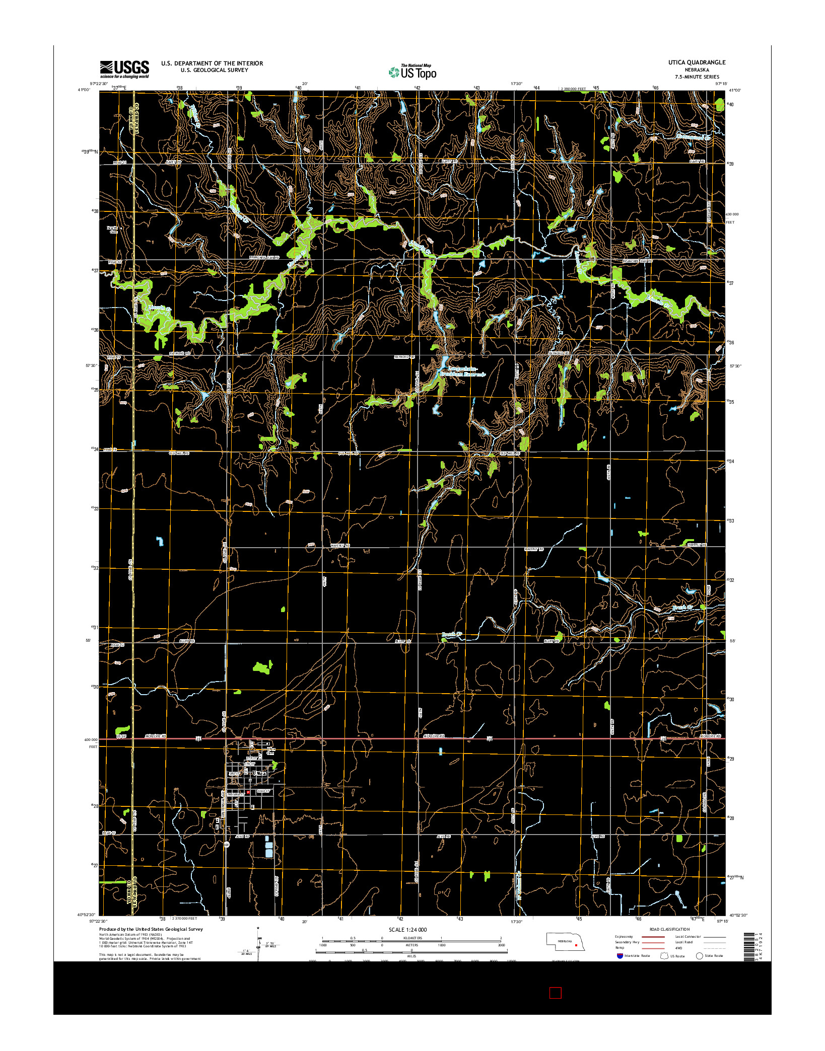 USGS US TOPO 7.5-MINUTE MAP FOR UTICA, NE 2014