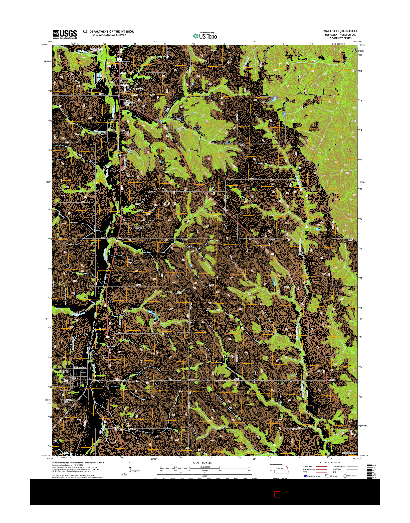 USGS US TOPO 7.5-MINUTE MAP FOR WALTHILL, NE 2014