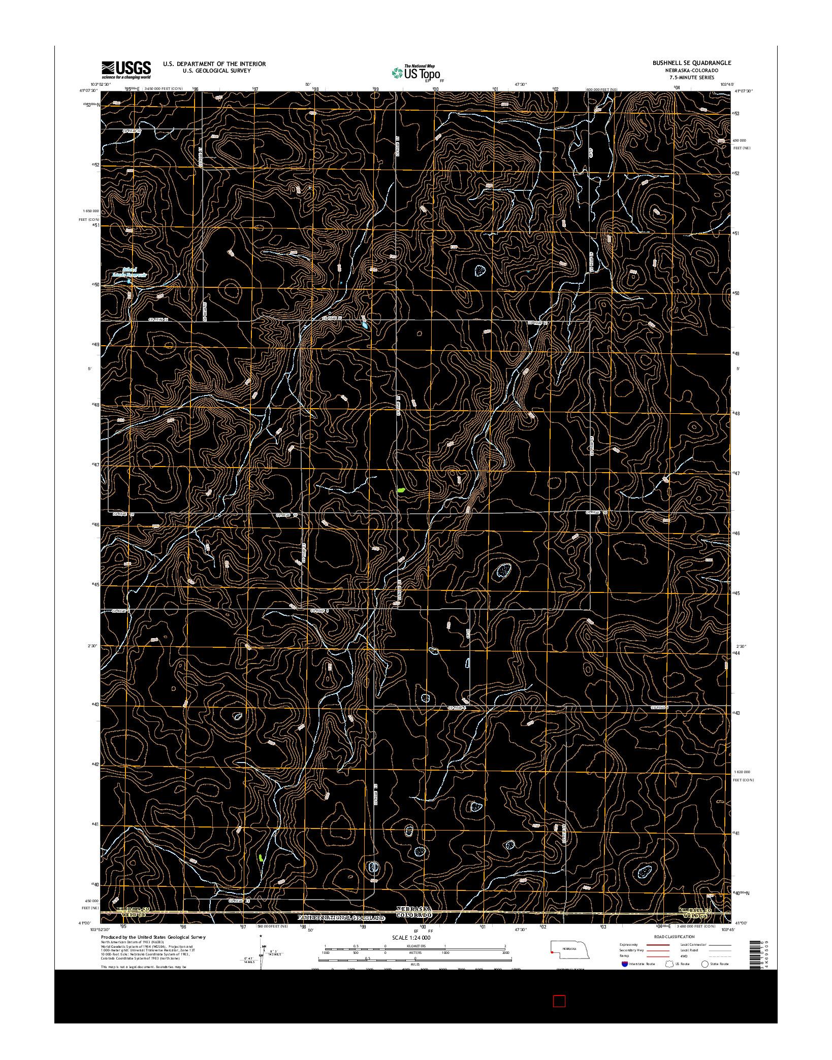 USGS US TOPO 7.5-MINUTE MAP FOR BUSHNELL SE, NE-CO 2014