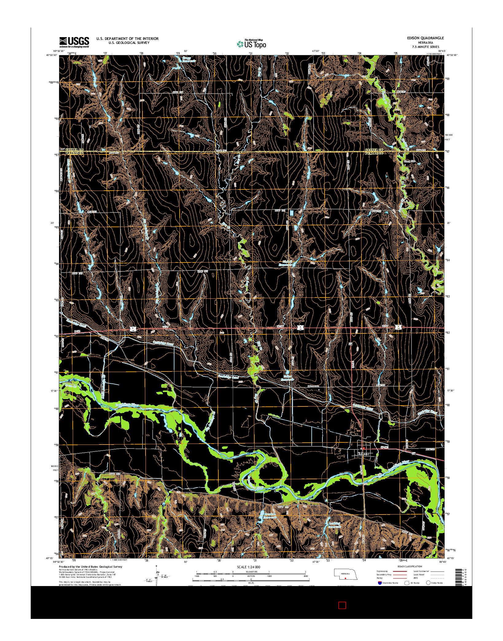 USGS US TOPO 7.5-MINUTE MAP FOR EDISON, NE 2014