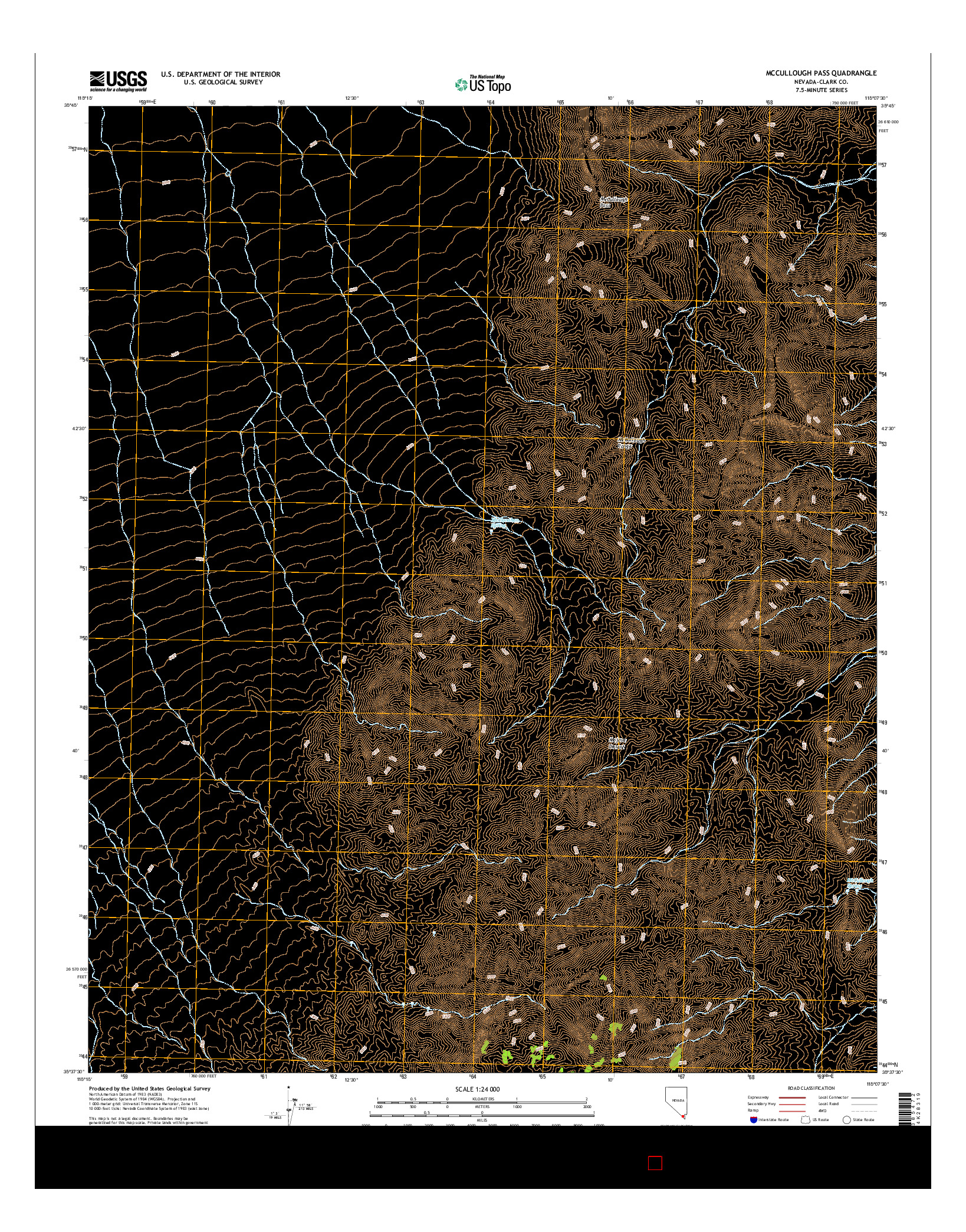USGS US TOPO 7.5-MINUTE MAP FOR MCCULLOUGH PASS, NV 2014