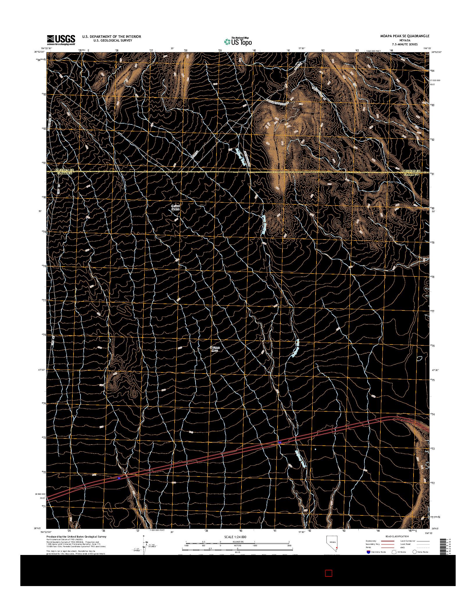 USGS US TOPO 7.5-MINUTE MAP FOR MOAPA PEAK SE, NV 2014