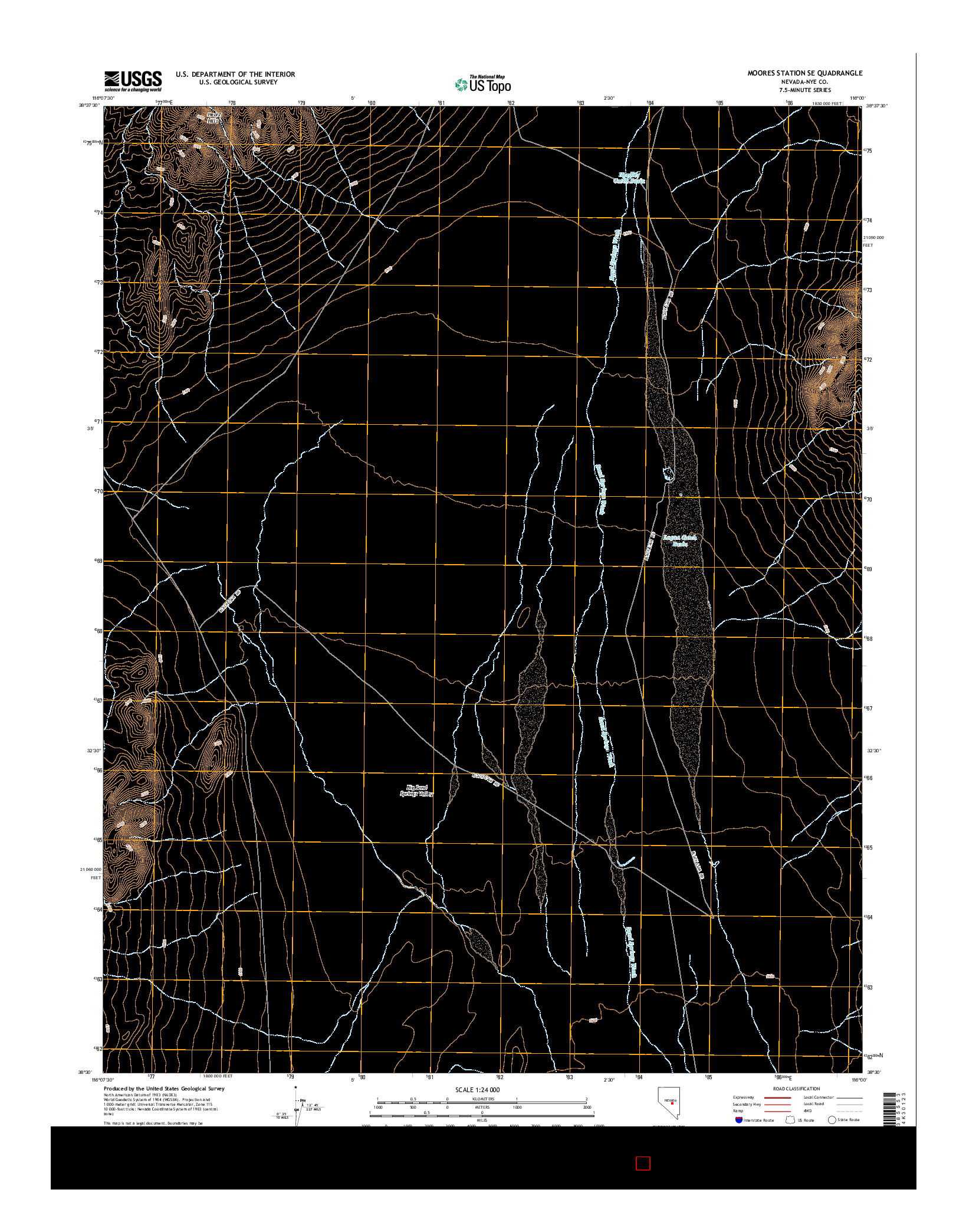 USGS US TOPO 7.5-MINUTE MAP FOR MOORES STATION SE, NV 2014