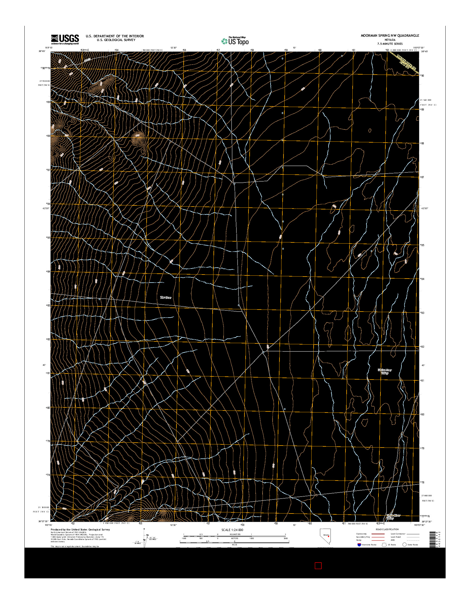 USGS US TOPO 7.5-MINUTE MAP FOR MOORMAN SPRING NW, NV 2014