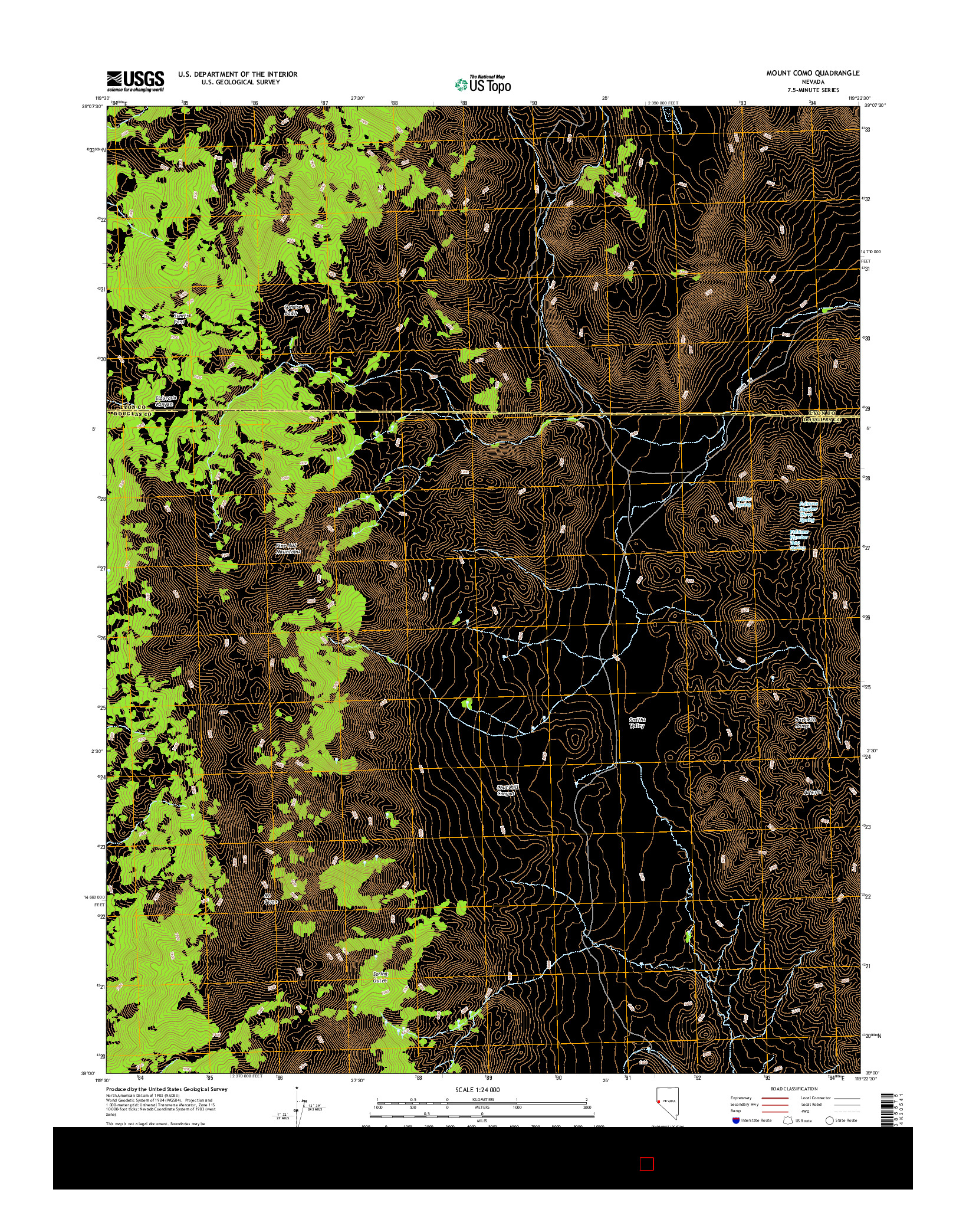 USGS US TOPO 7.5-MINUTE MAP FOR MOUNT COMO, NV 2014