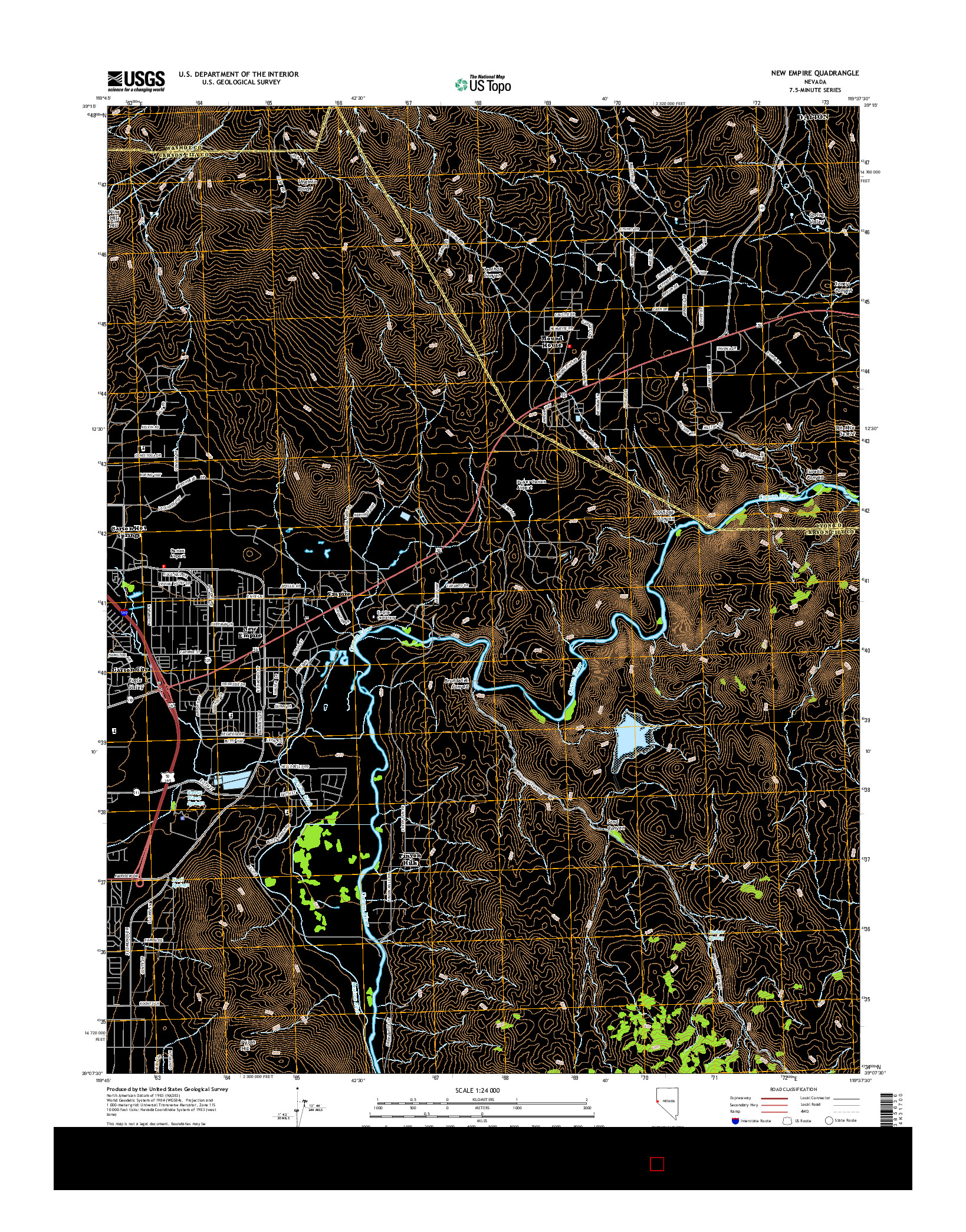 USGS US TOPO 7.5-MINUTE MAP FOR NEW EMPIRE, NV 2014