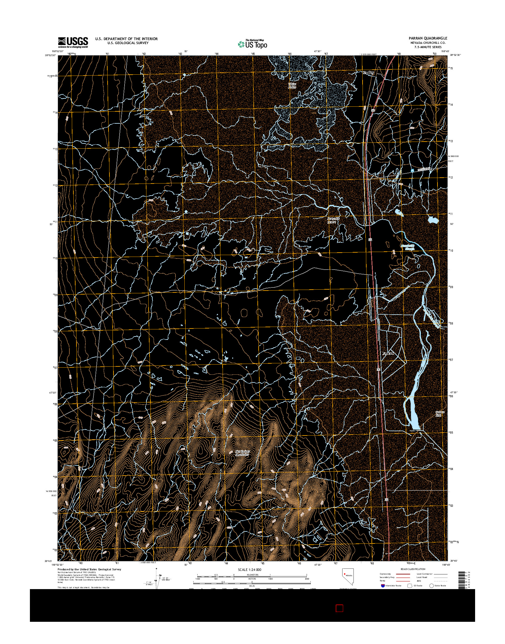 USGS US TOPO 7.5-MINUTE MAP FOR PARRAN, NV 2014