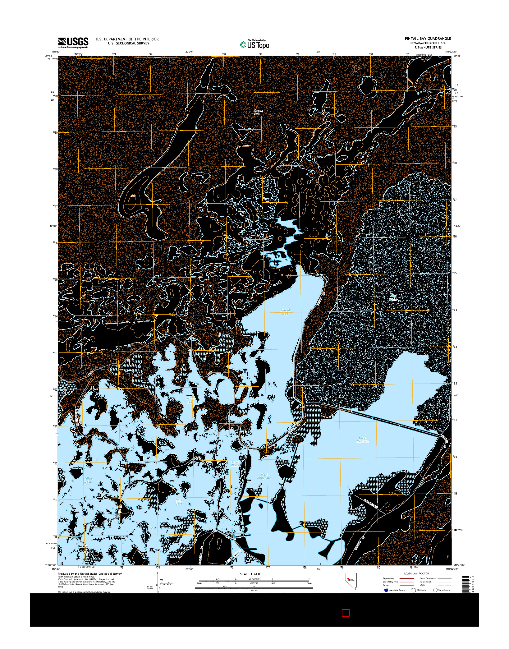 USGS US TOPO 7.5-MINUTE MAP FOR PINTAIL BAY, NV 2014