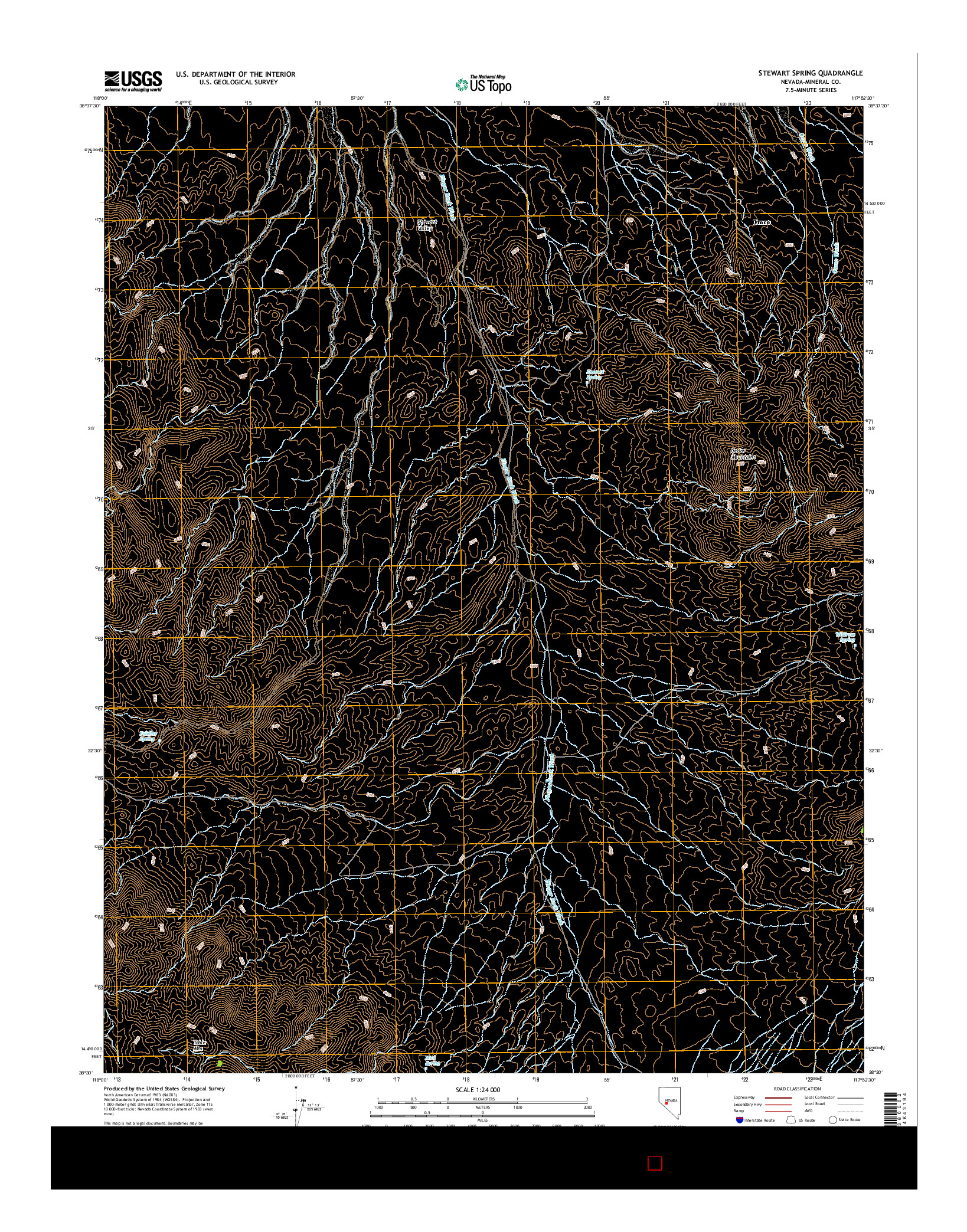 USGS US TOPO 7.5-MINUTE MAP FOR STEWART SPRING, NV 2014
