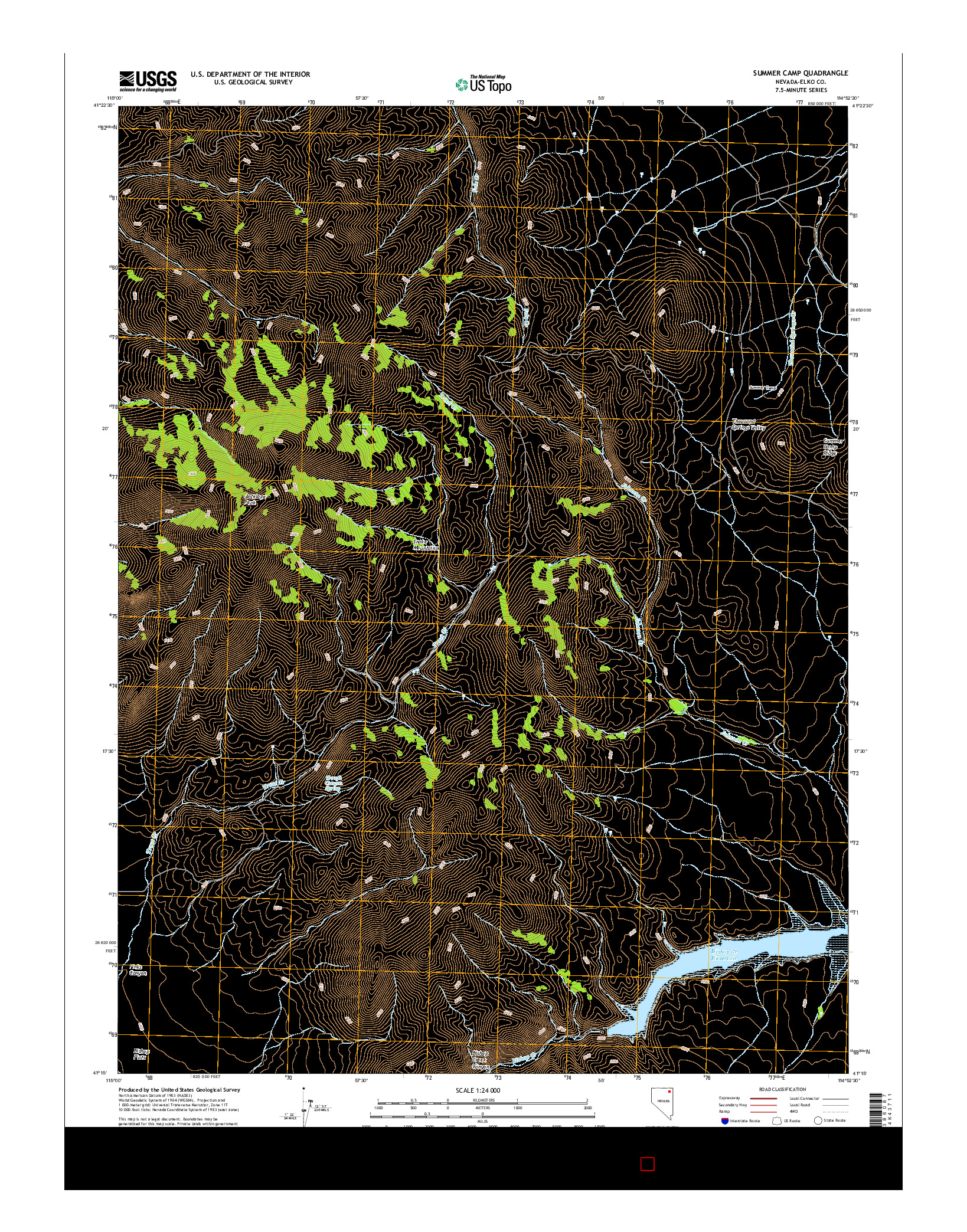 USGS US TOPO 7.5-MINUTE MAP FOR SUMMER CAMP, NV 2014
