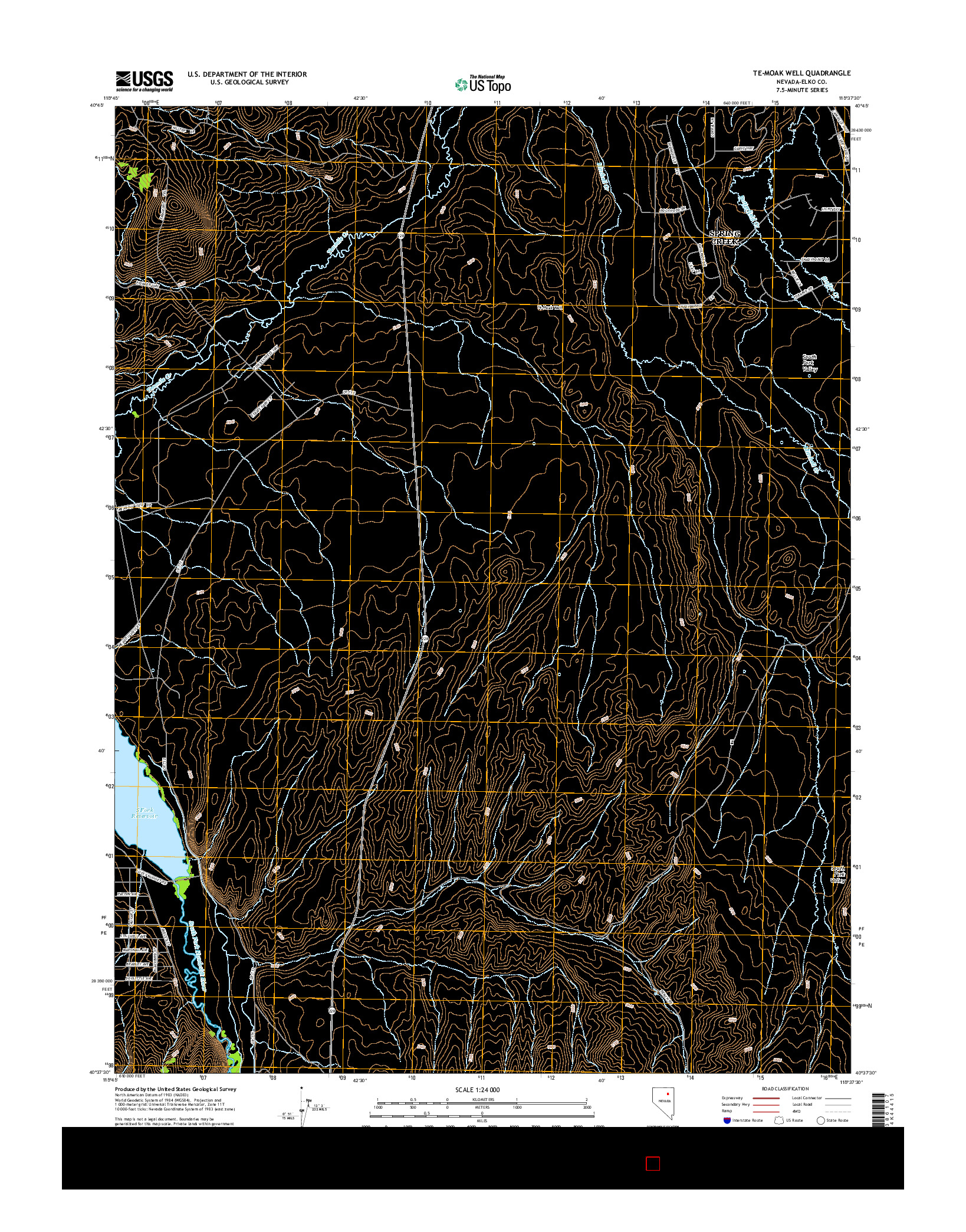 USGS US TOPO 7.5-MINUTE MAP FOR TE-MOAK WELL, NV 2014