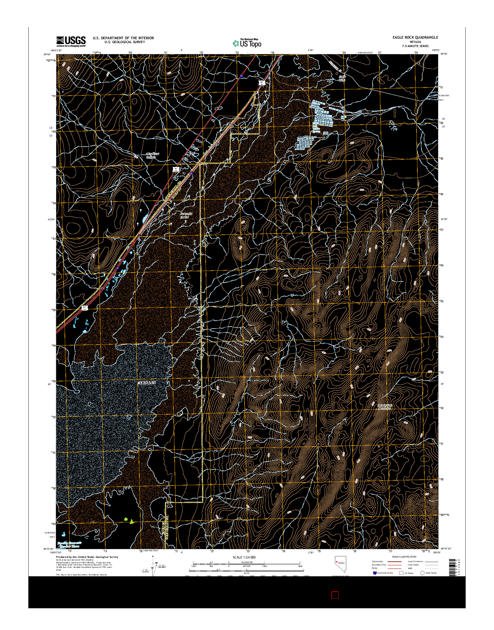 USGS US TOPO 7.5-MINUTE MAP FOR EAGLE ROCK, NV 2014