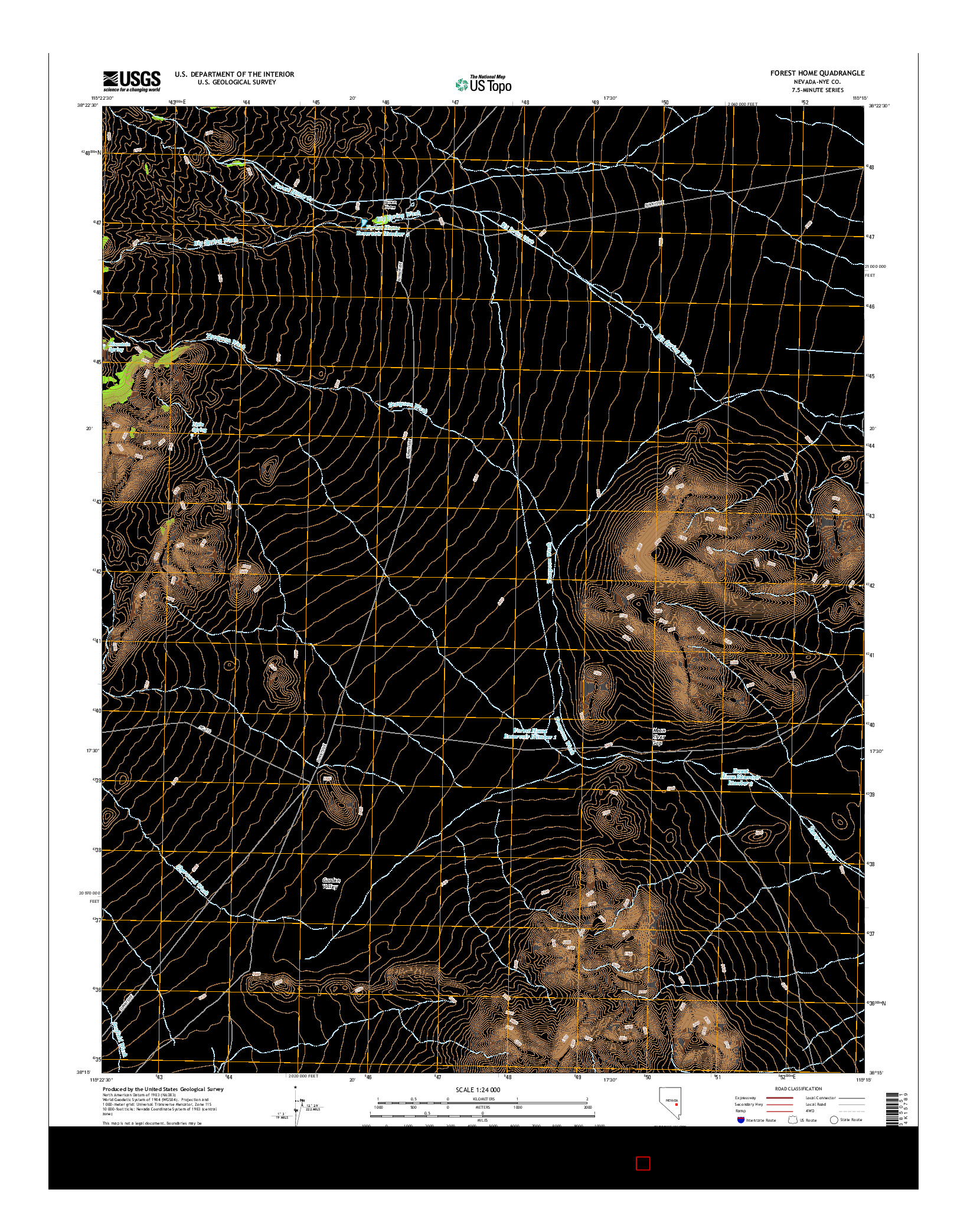 USGS US TOPO 7.5-MINUTE MAP FOR FOREST HOME, NV 2014