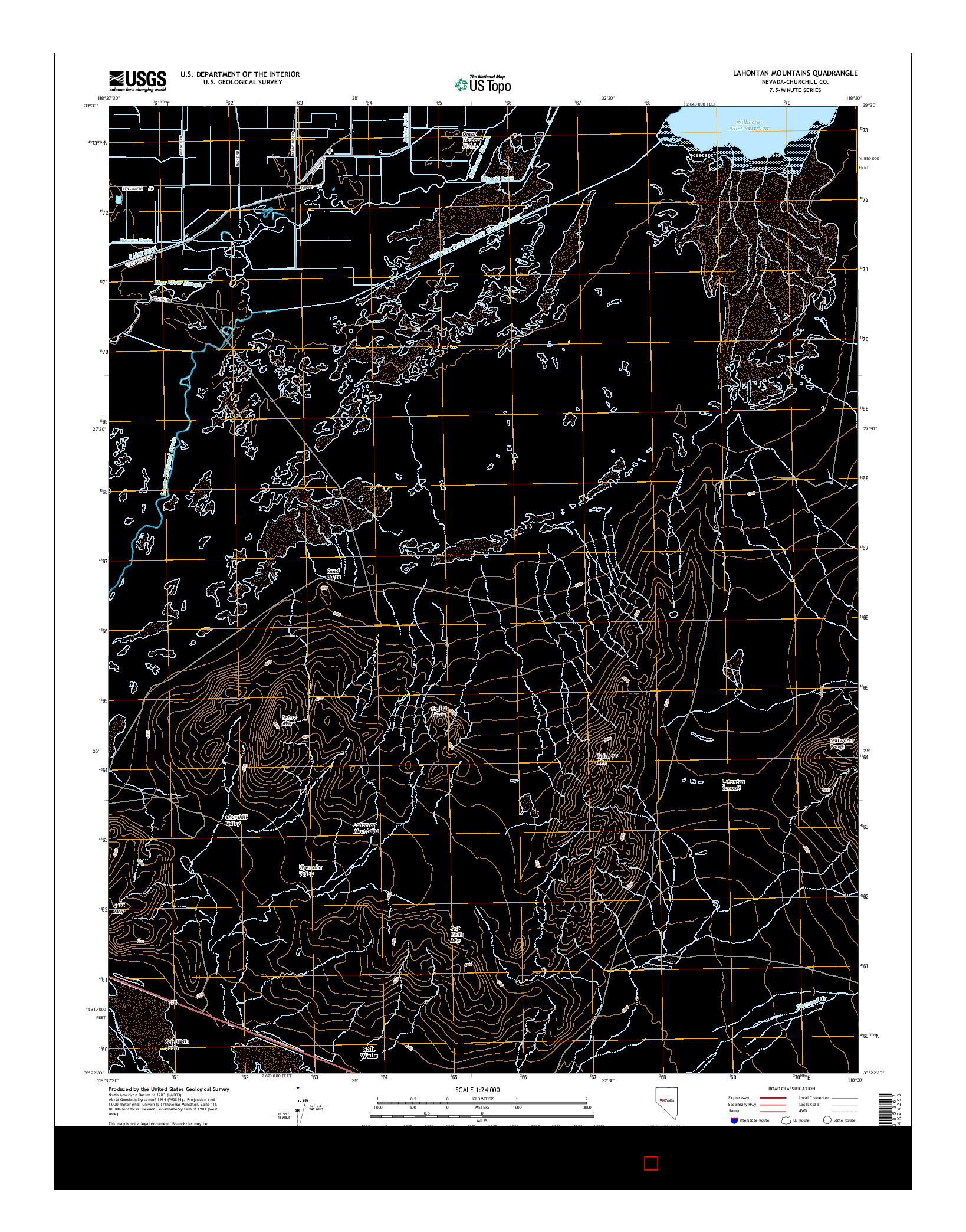 USGS US TOPO 7.5-MINUTE MAP FOR LAHONTAN MOUNTAINS, NV 2014