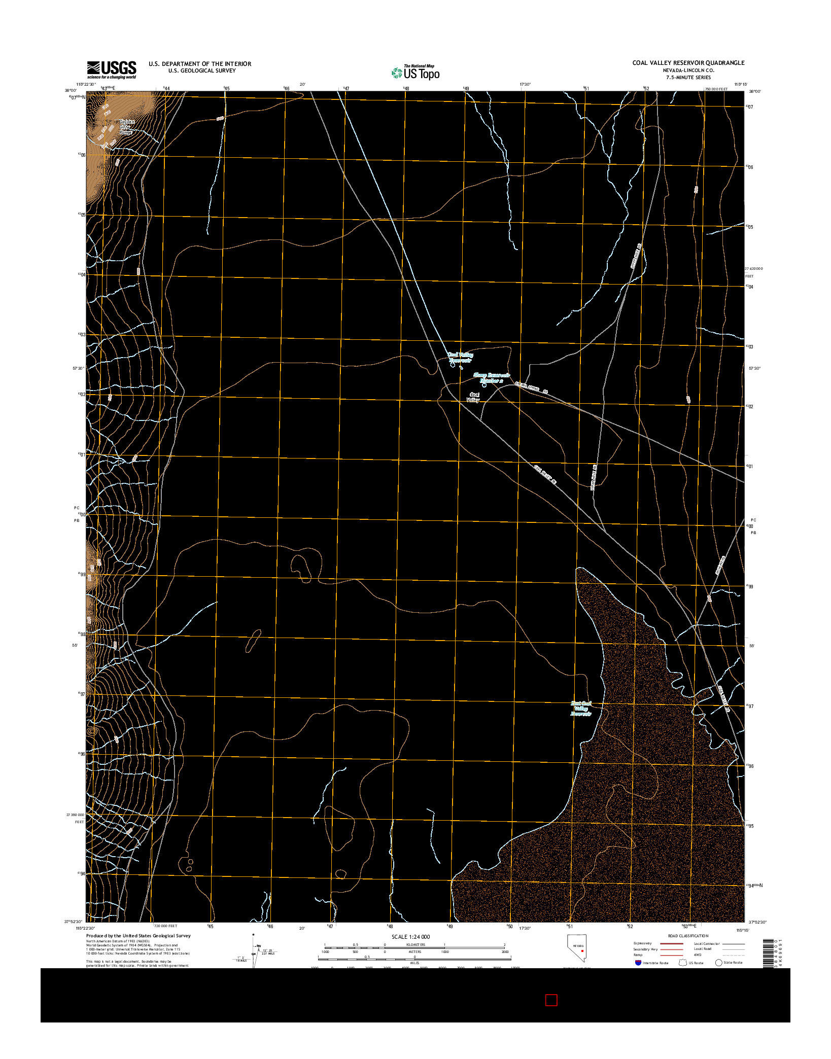 USGS US TOPO 7.5-MINUTE MAP FOR COAL VALLEY RESERVOIR, NV 2014