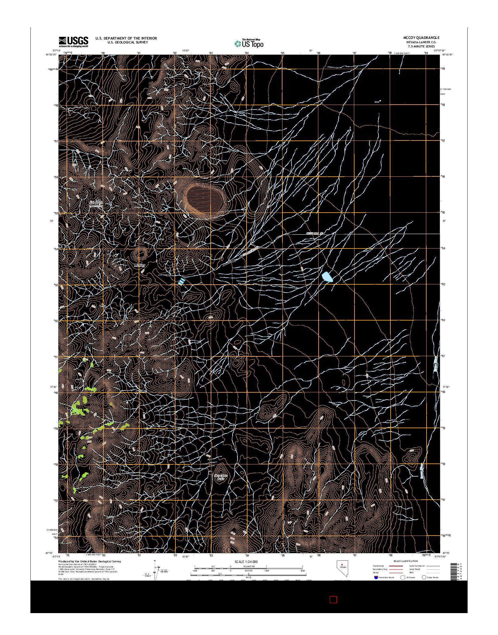 USGS US TOPO 7.5-MINUTE MAP FOR MCCOY, NV 2014