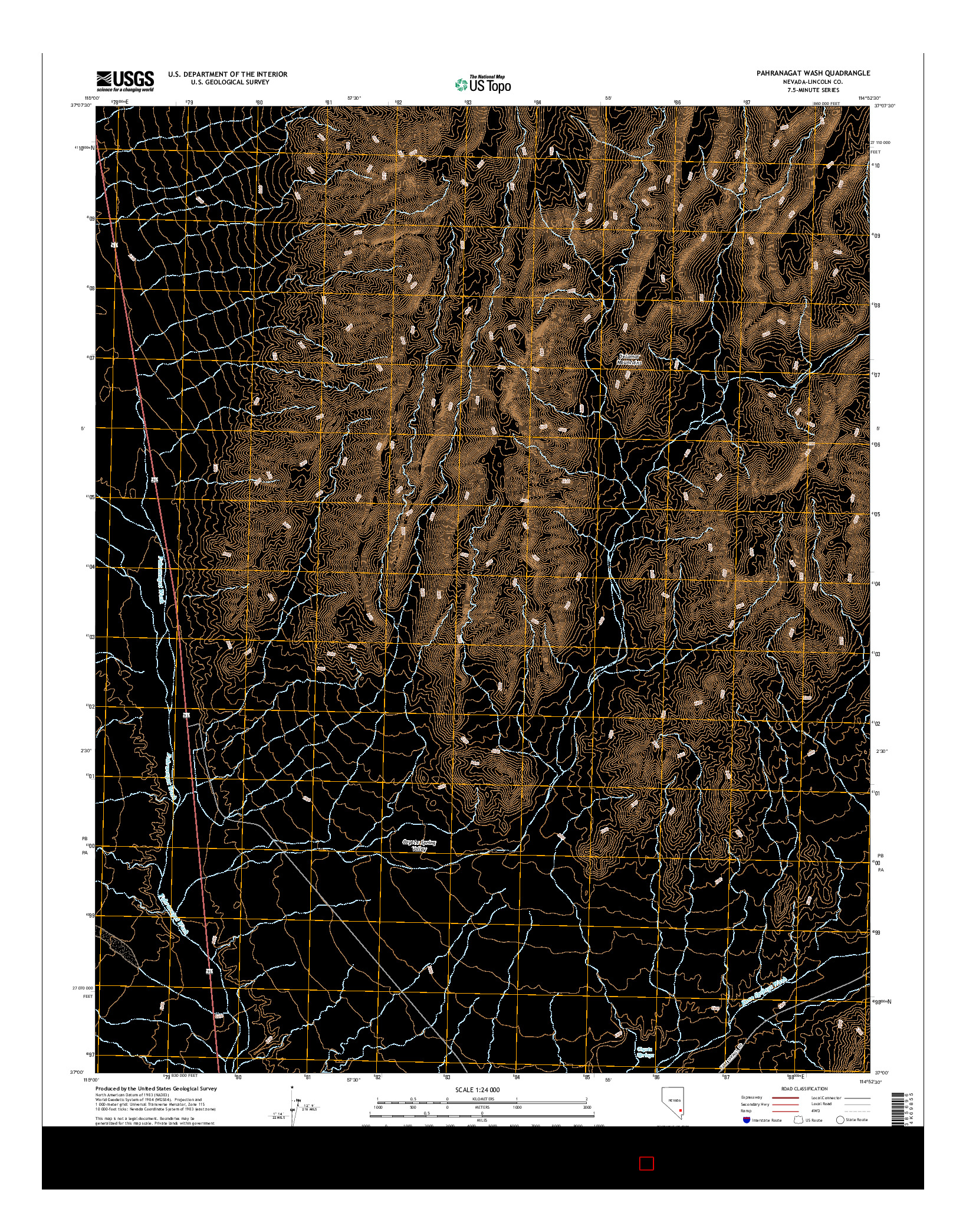 USGS US TOPO 7.5-MINUTE MAP FOR PAHRANAGAT WASH, NV 2014