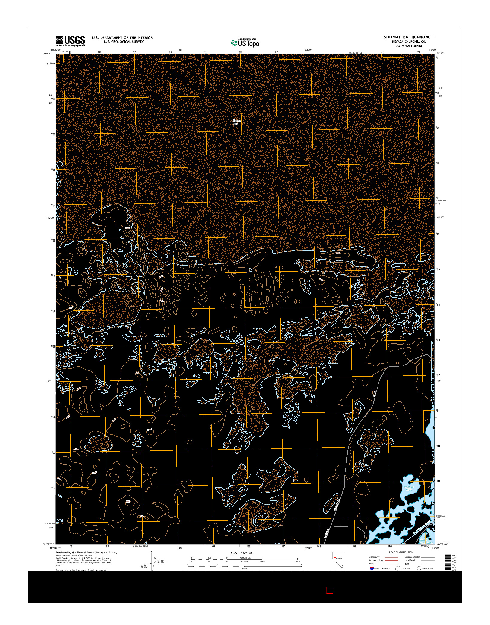 USGS US TOPO 7.5-MINUTE MAP FOR STILLWATER NE, NV 2014