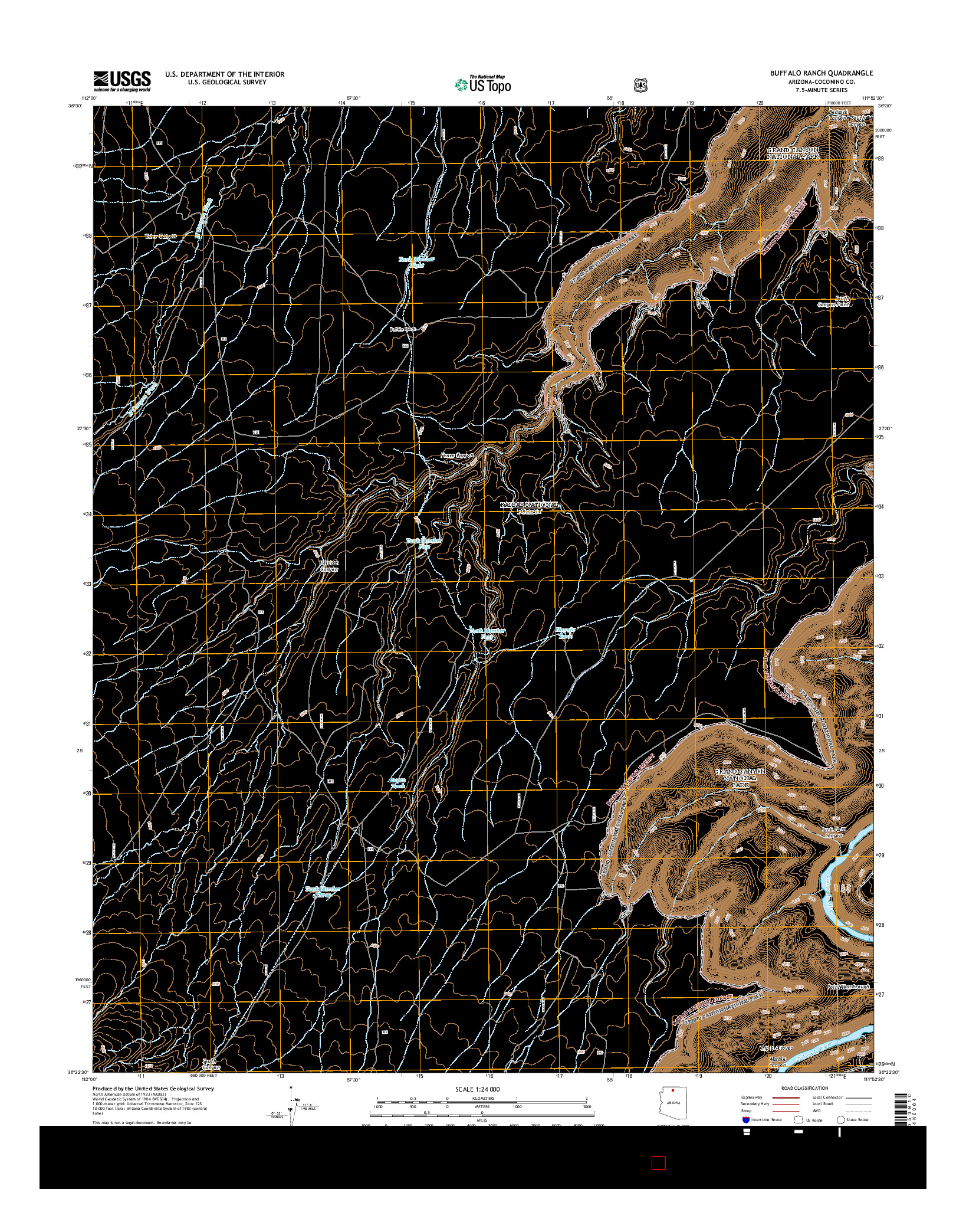USGS US TOPO 7.5-MINUTE MAP FOR BUFFALO RANCH, AZ 2014