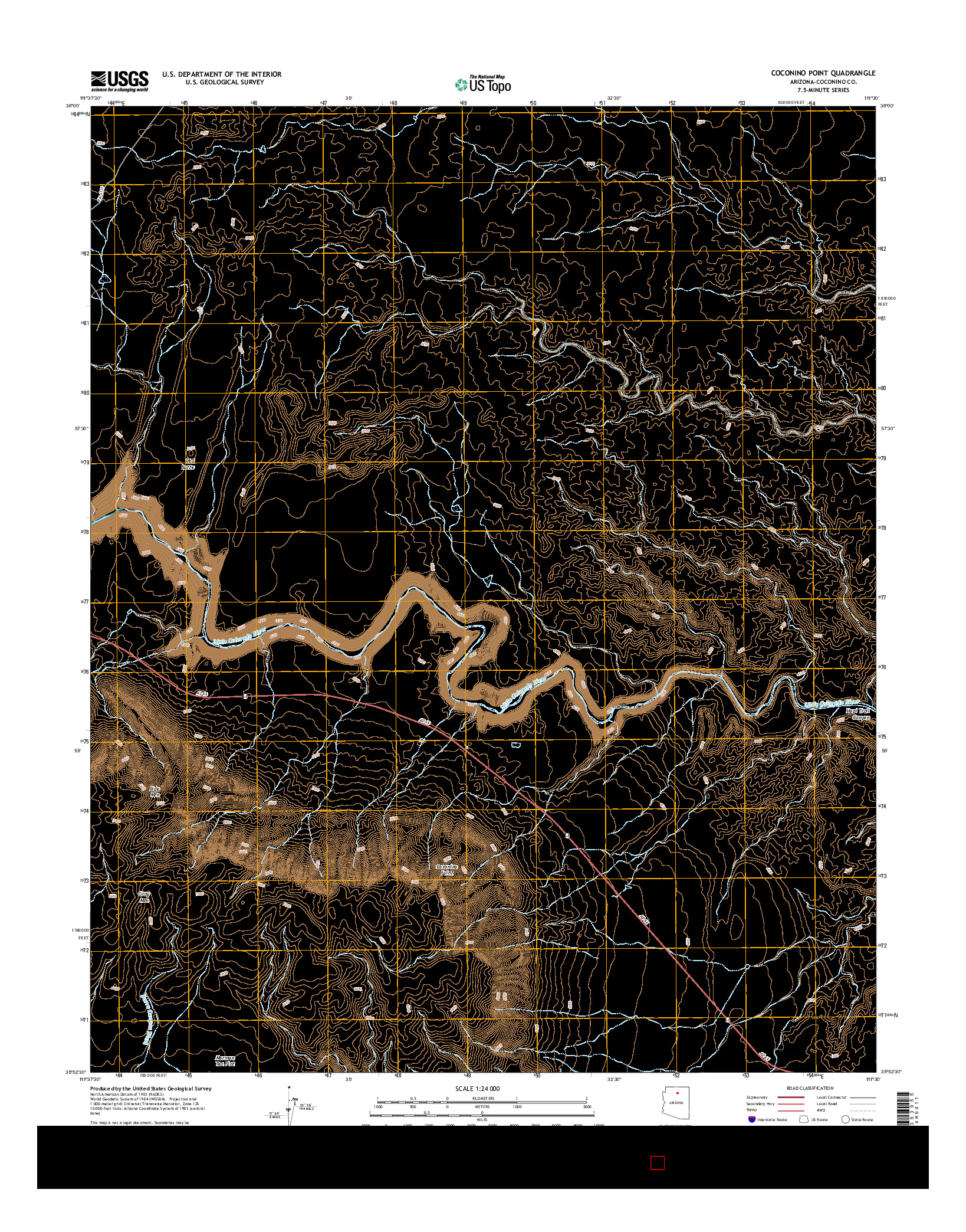 USGS US TOPO 7.5-MINUTE MAP FOR COCONINO POINT, AZ 2014