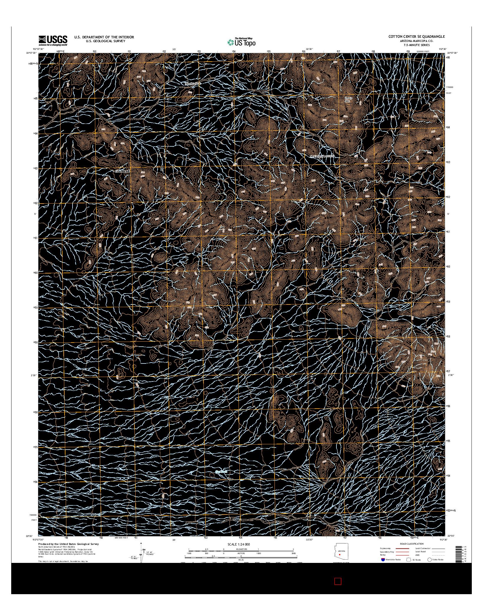 USGS US TOPO 7.5-MINUTE MAP FOR COTTON CENTER SE, AZ 2014